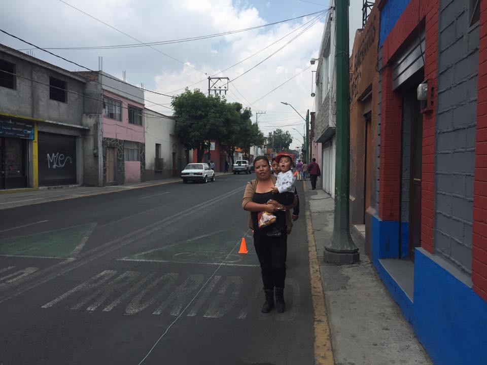 Las personas gozaron de un espacio amplio para caminar