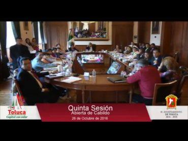 Reunión de cabildo Toluca