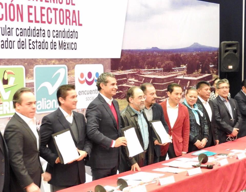 Oficializa PRI coalición con PVEM y NA
