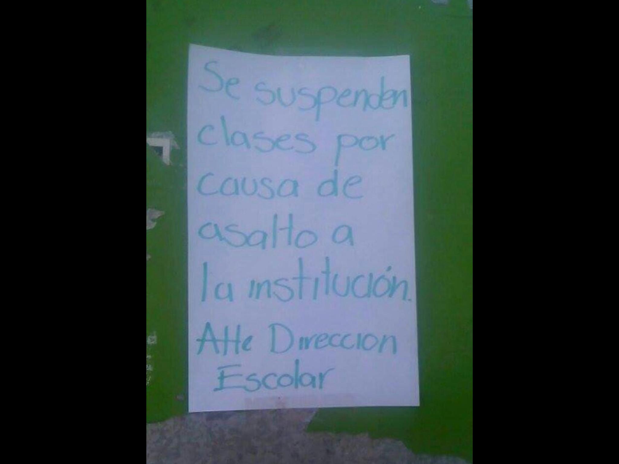 Otra vez roban escuela en Metepec