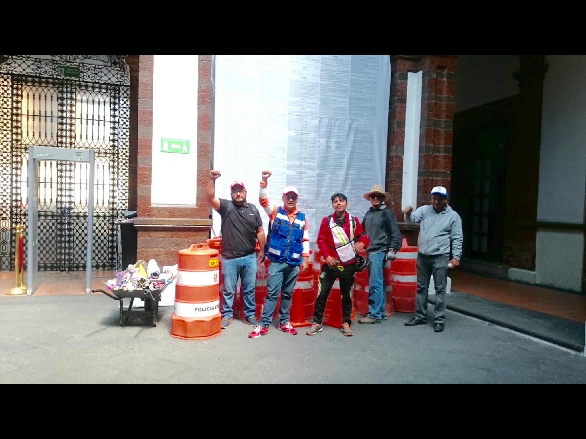"""""""Antigandallas"""" ponen orden en el Centro Histórico de Toluca"""