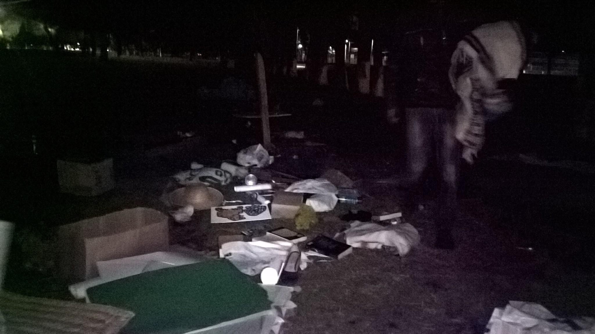 Atacan campamento Abracemos Tollocan en Toluca