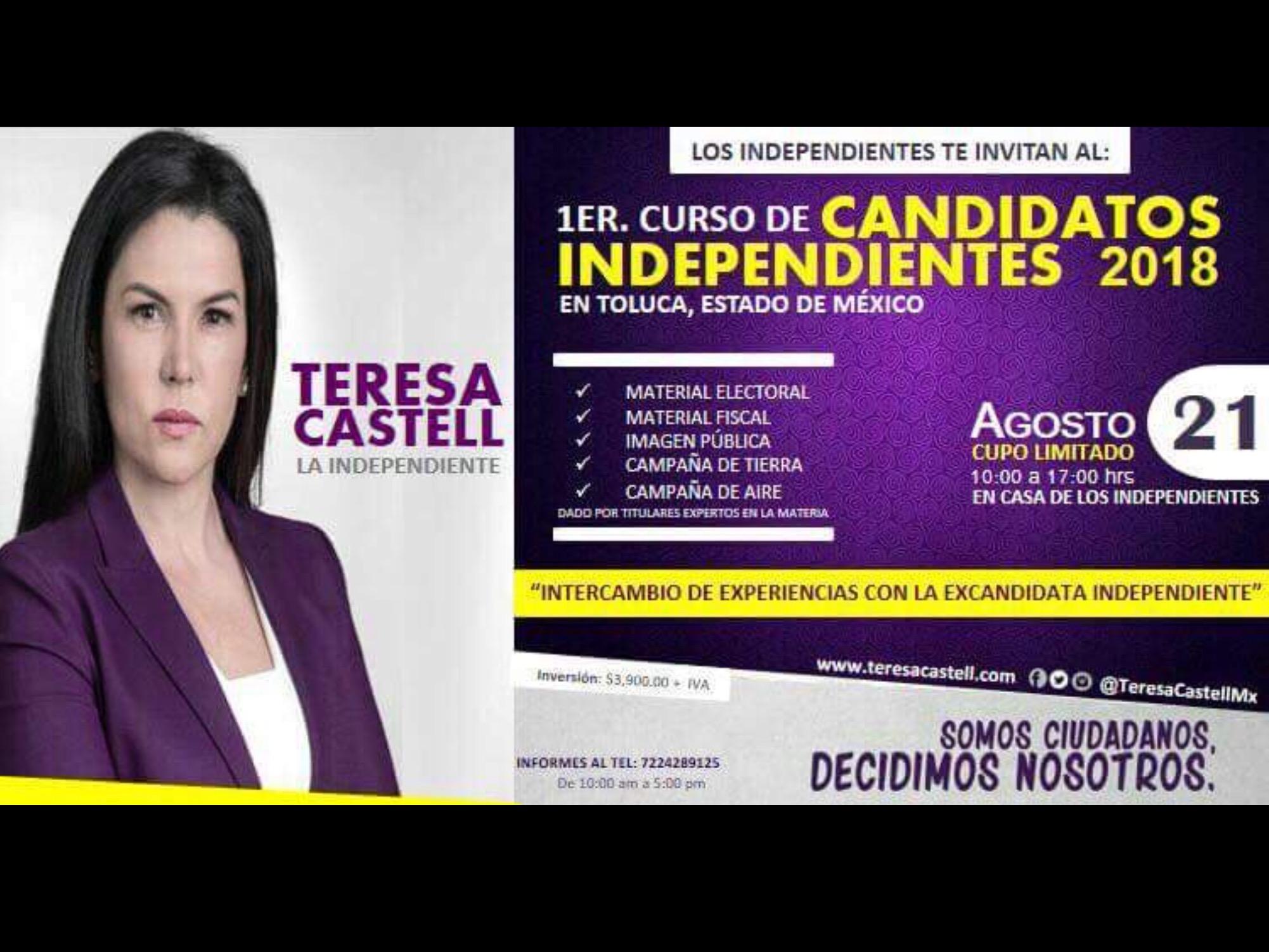 Ve Castell oportunidad de negocio en candidaturas del 2018