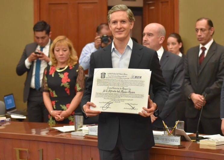 Entre protestas, nombra IEEM gobernador electo a Del Mazo