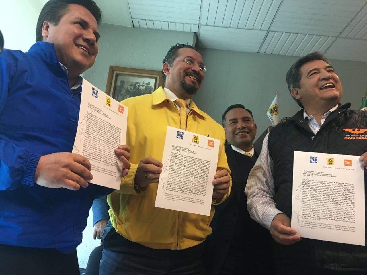 """Concretan """"El Frente"""" en Edoméx; buscan mayoría en congreso"""