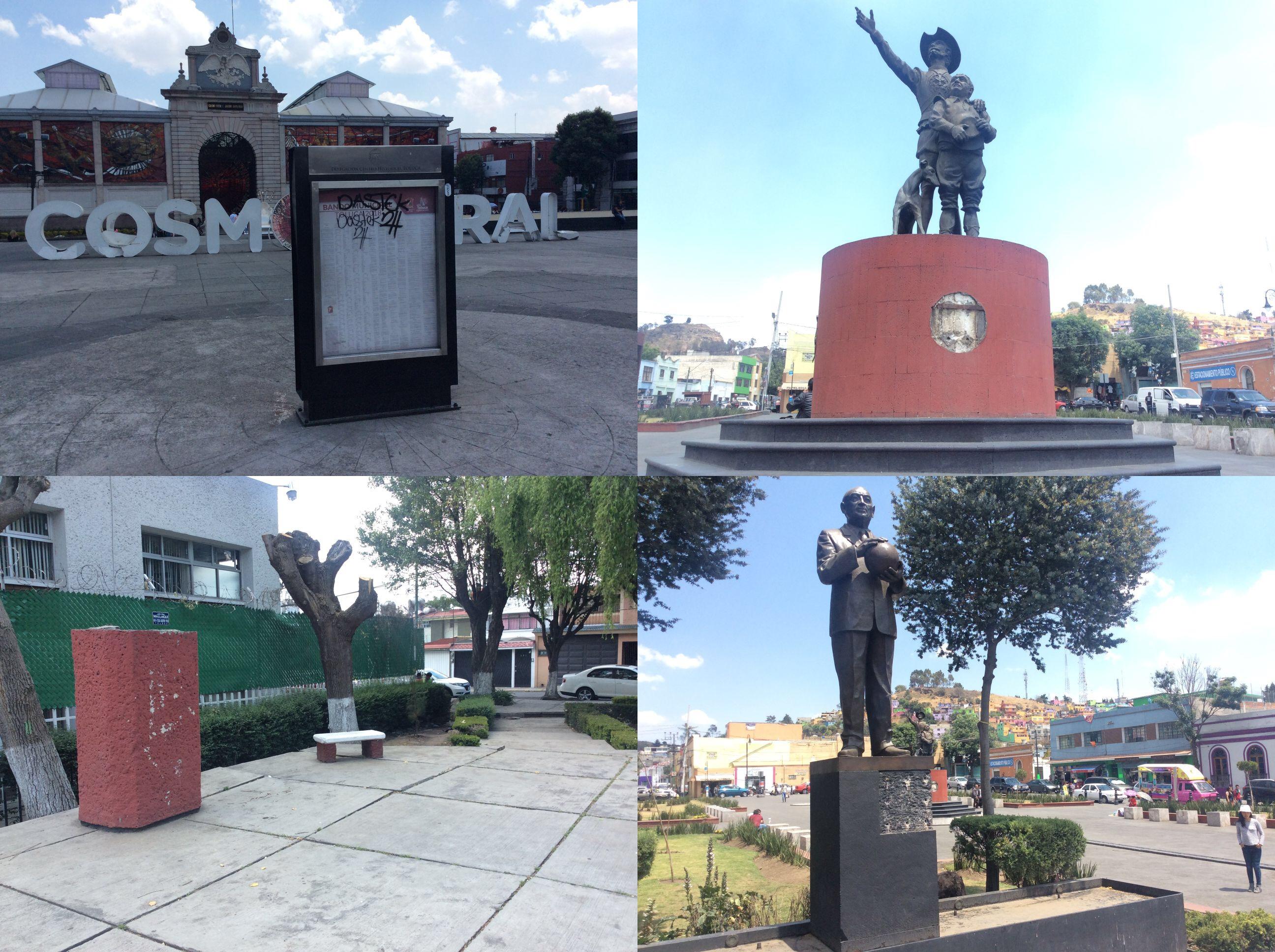 Repunta vandalismo en Toluca, ahora desvalijan esculturas
