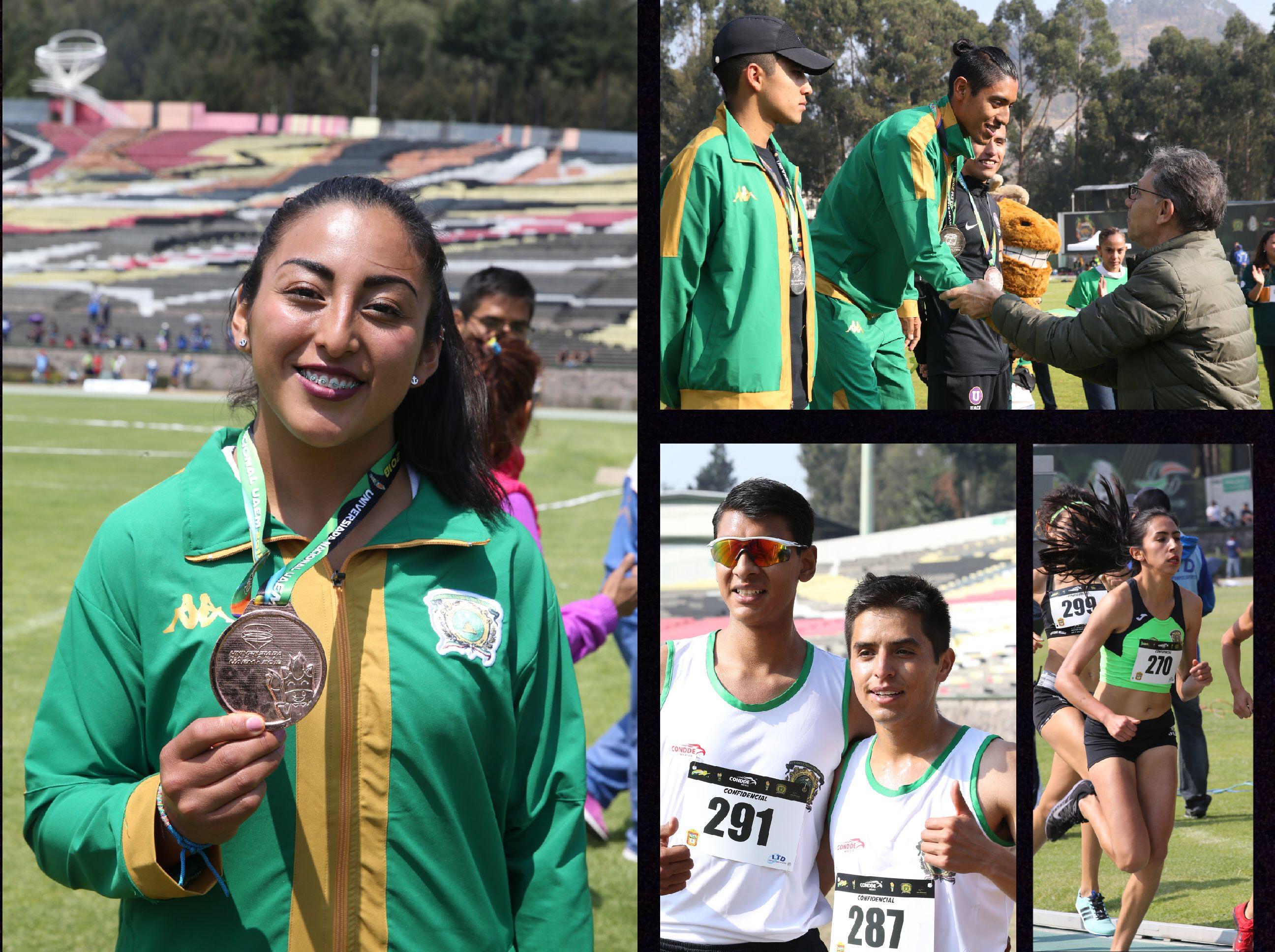 Caen las primeras medallas para UAEM