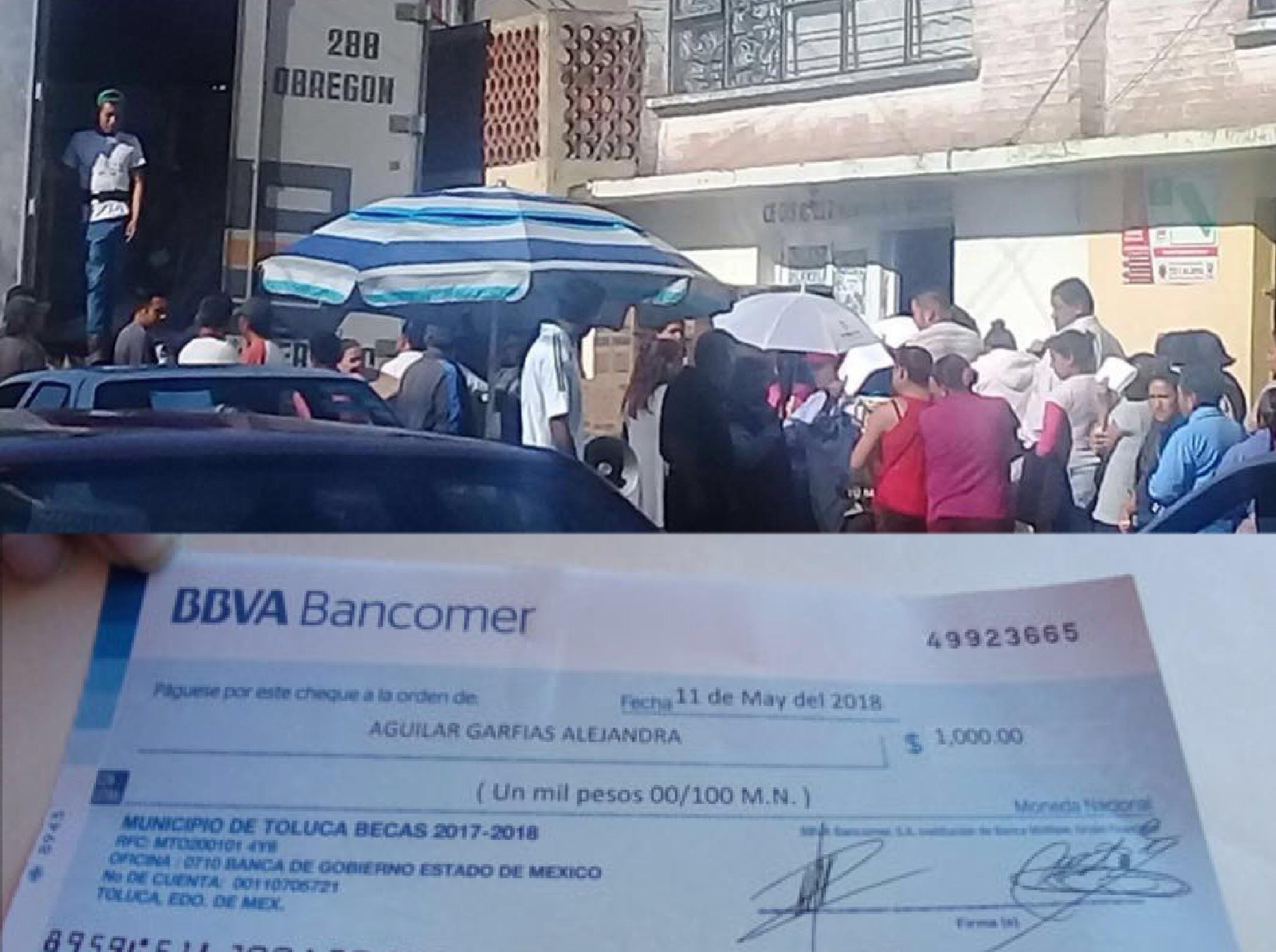 Frente despreocupado ante feria de dádivas en Toluca