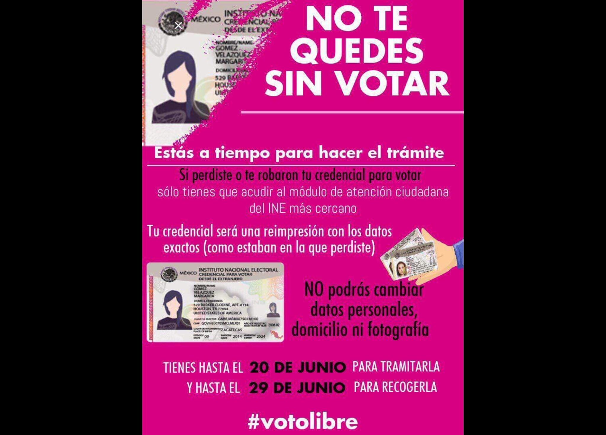Última llamada para obtener credencial para votar