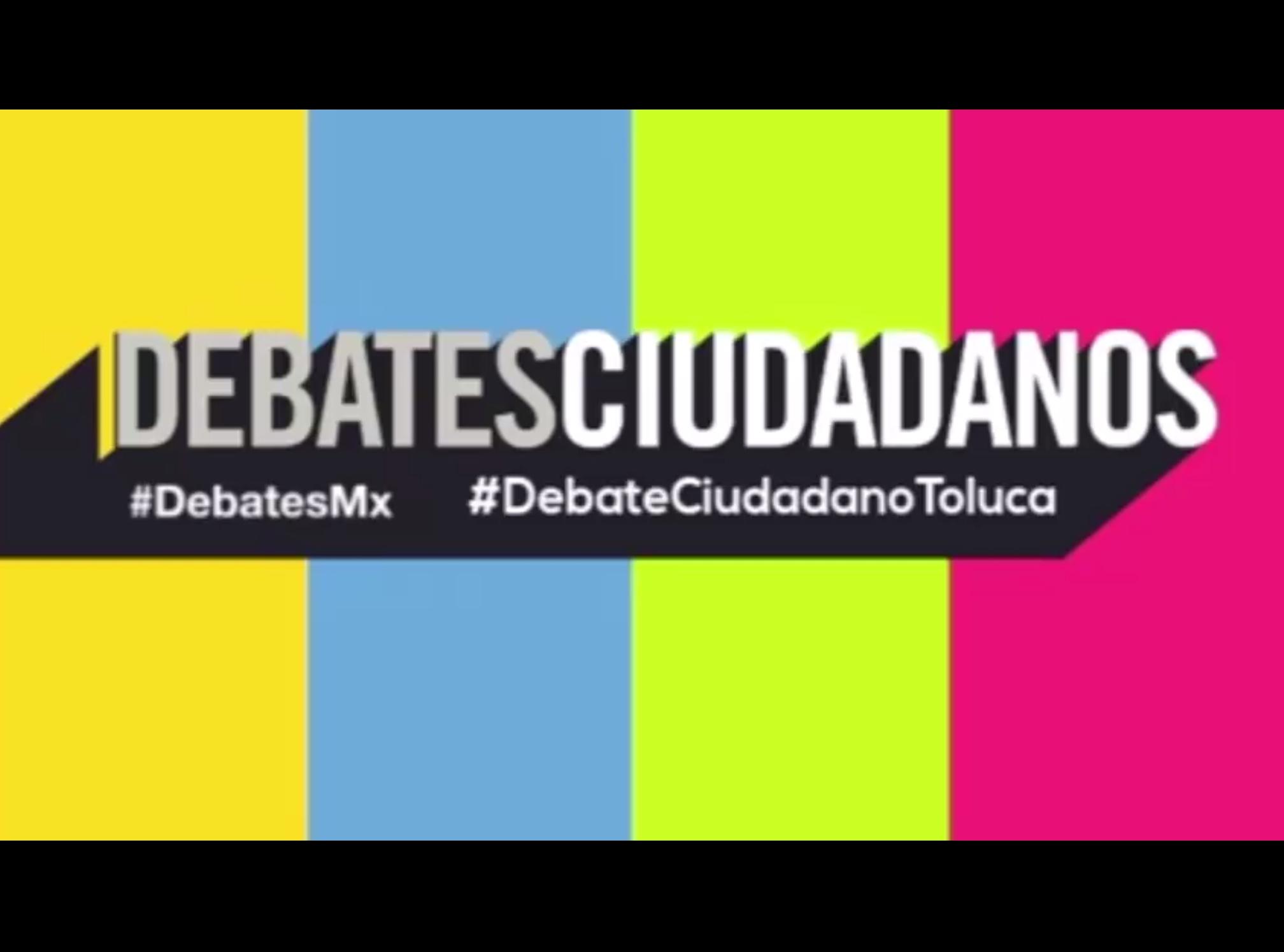 A debate tres de seis candidatos en Toluca