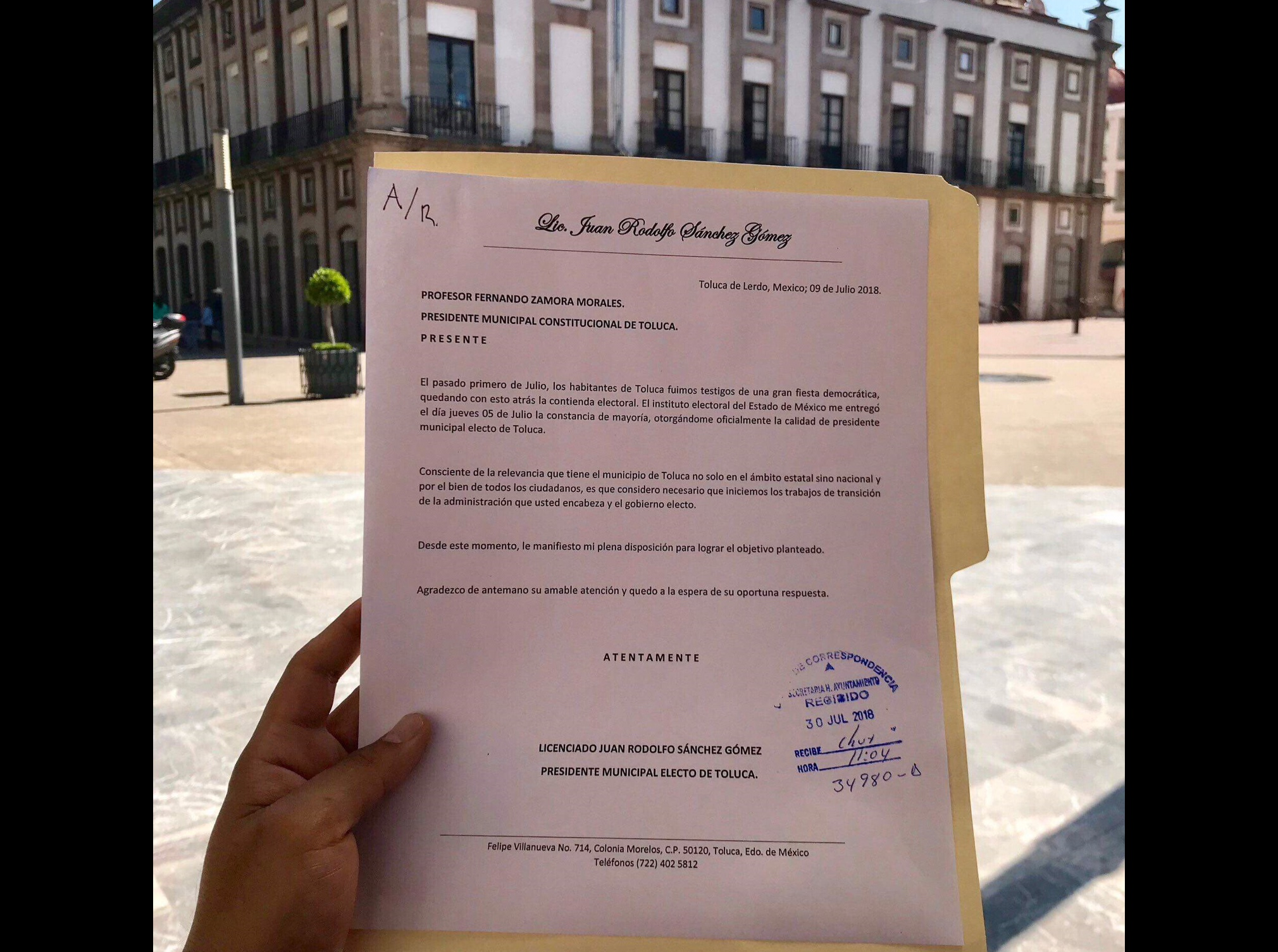 Aplica JuanRo sobremarcha a transición en Toluca