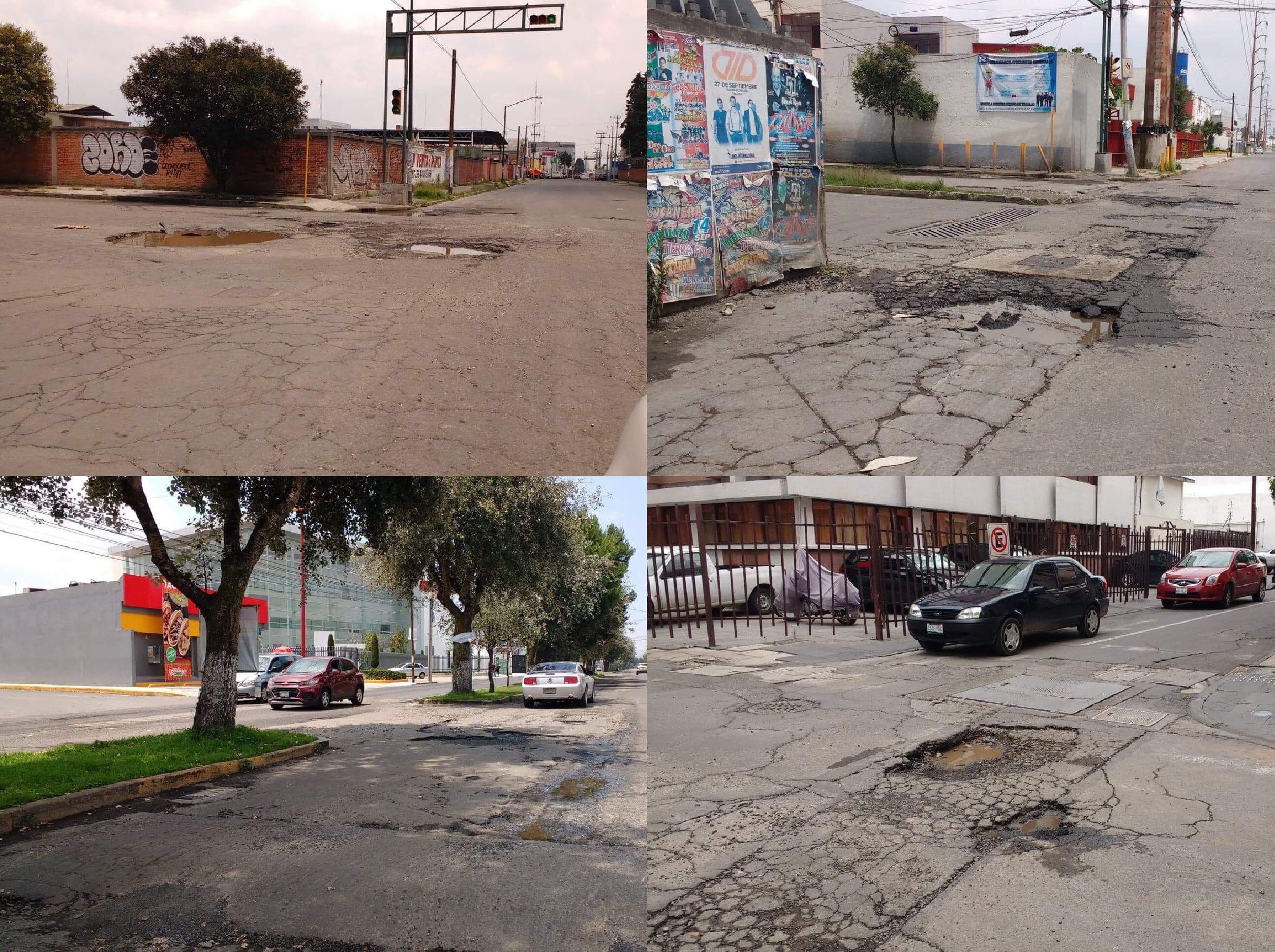 """Dejan en """"visto"""" baches en Toluca y Metepec"""