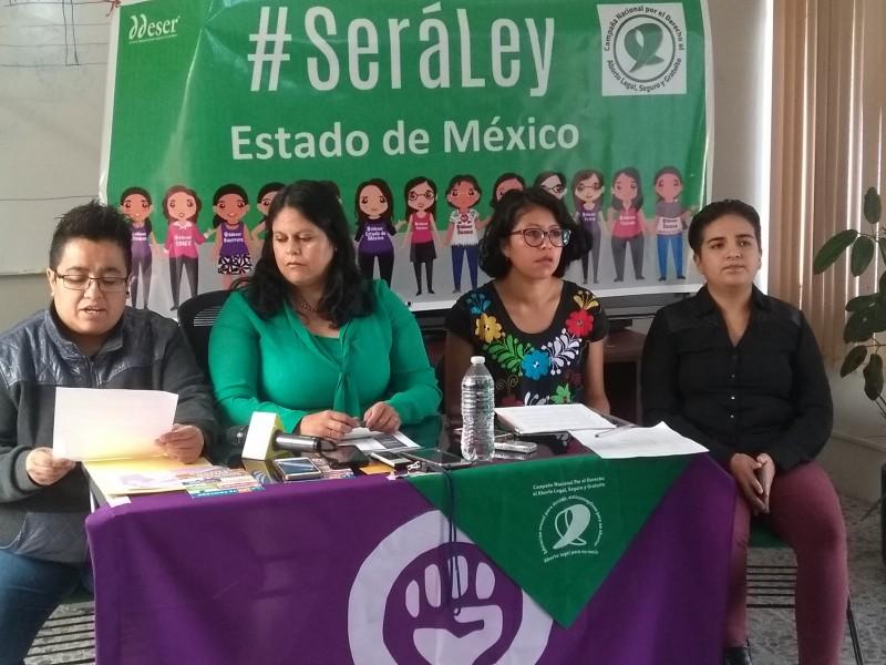 Piden a MORENA despenalizar aborto en Edoméx
