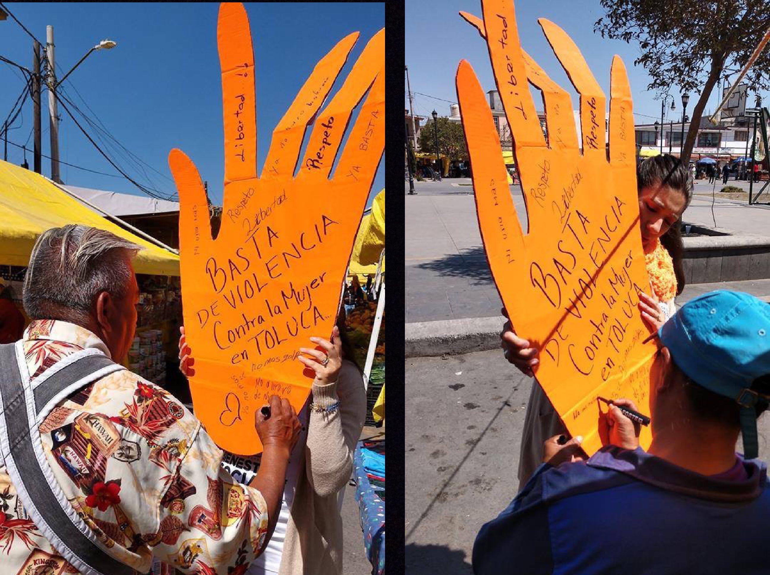 "Toluca ""se pinta"" naranja contra la violencia"