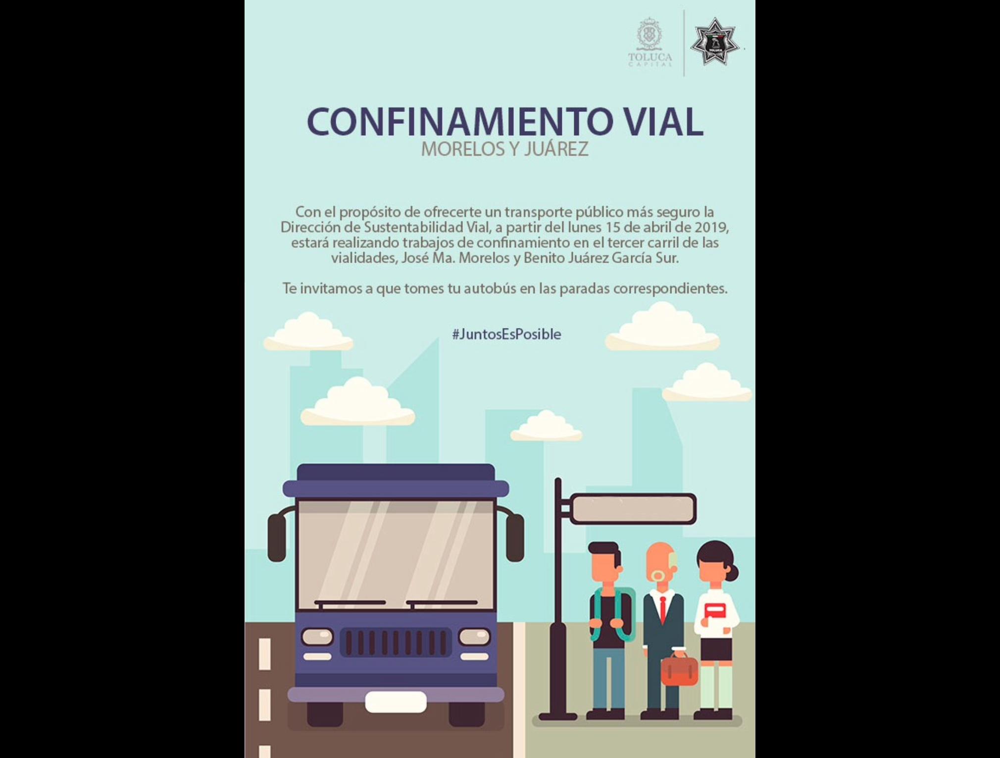 Confina Toluca al transporte público