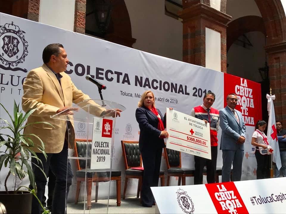 Comprometen a alta burocracia de Toluca con Cruz Roja