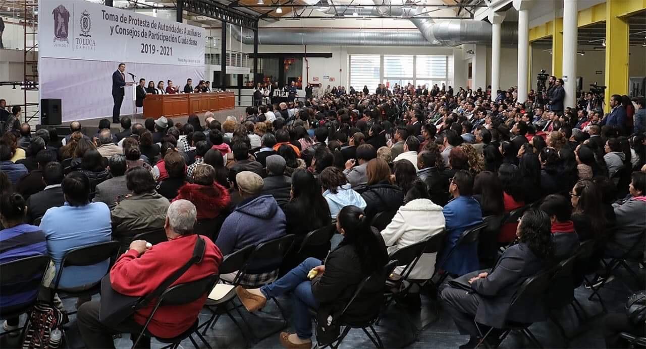 Renueva Toluca autoridades auxiliares y COPACIS