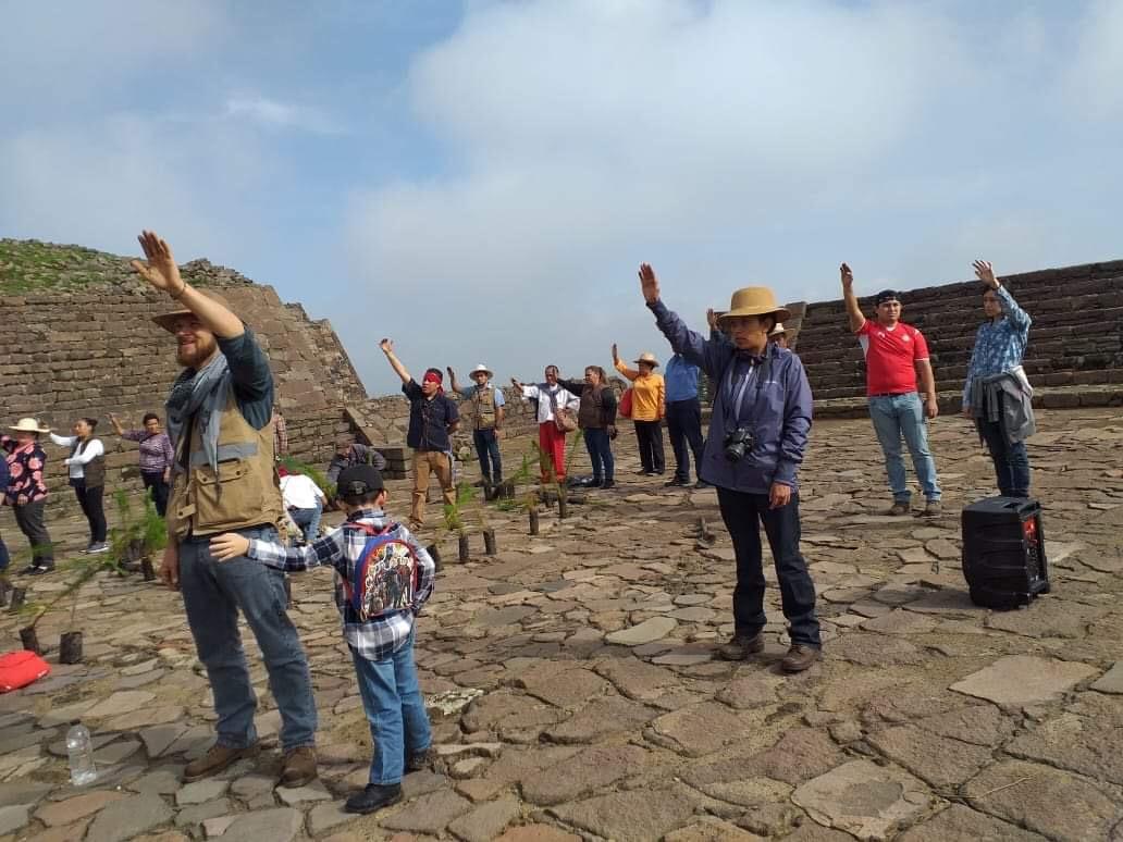 """Ola verde"" llega a zona arqueológica de Toluca"