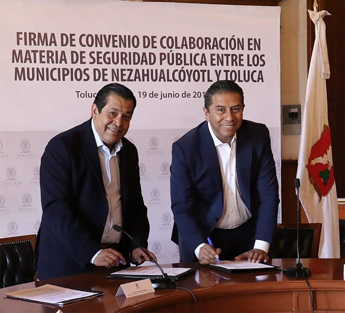 Hacen mancuerna Toluca y Neza en seguridad