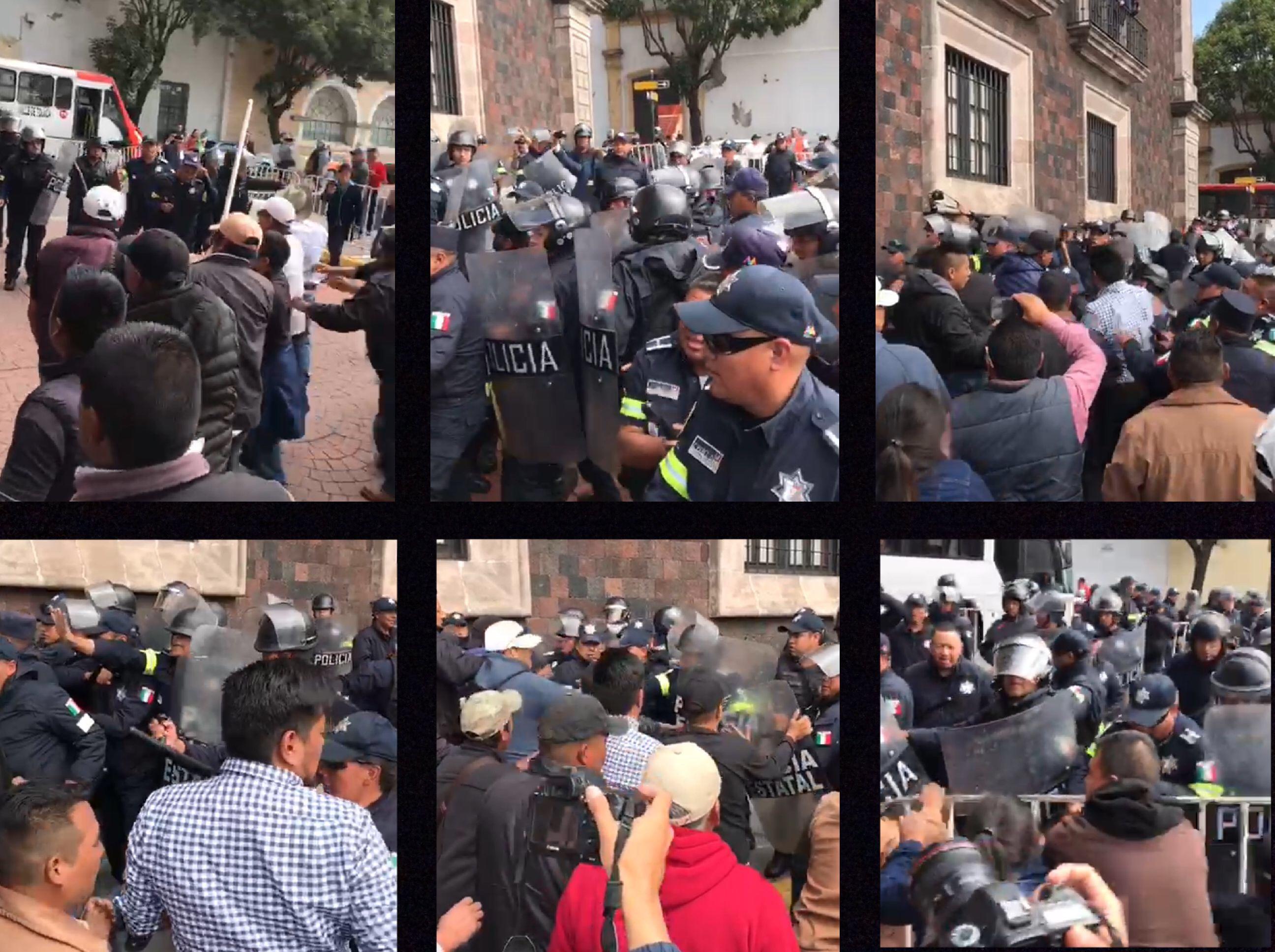 Zafarrancho entre policías y pobladores de Donato Guerra
