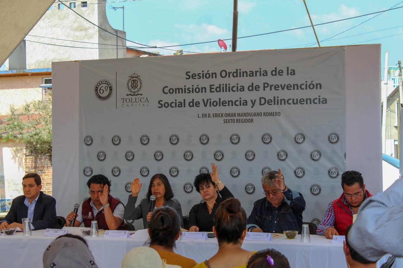 Ediles palpan problemáticas de zona norte de Toluca