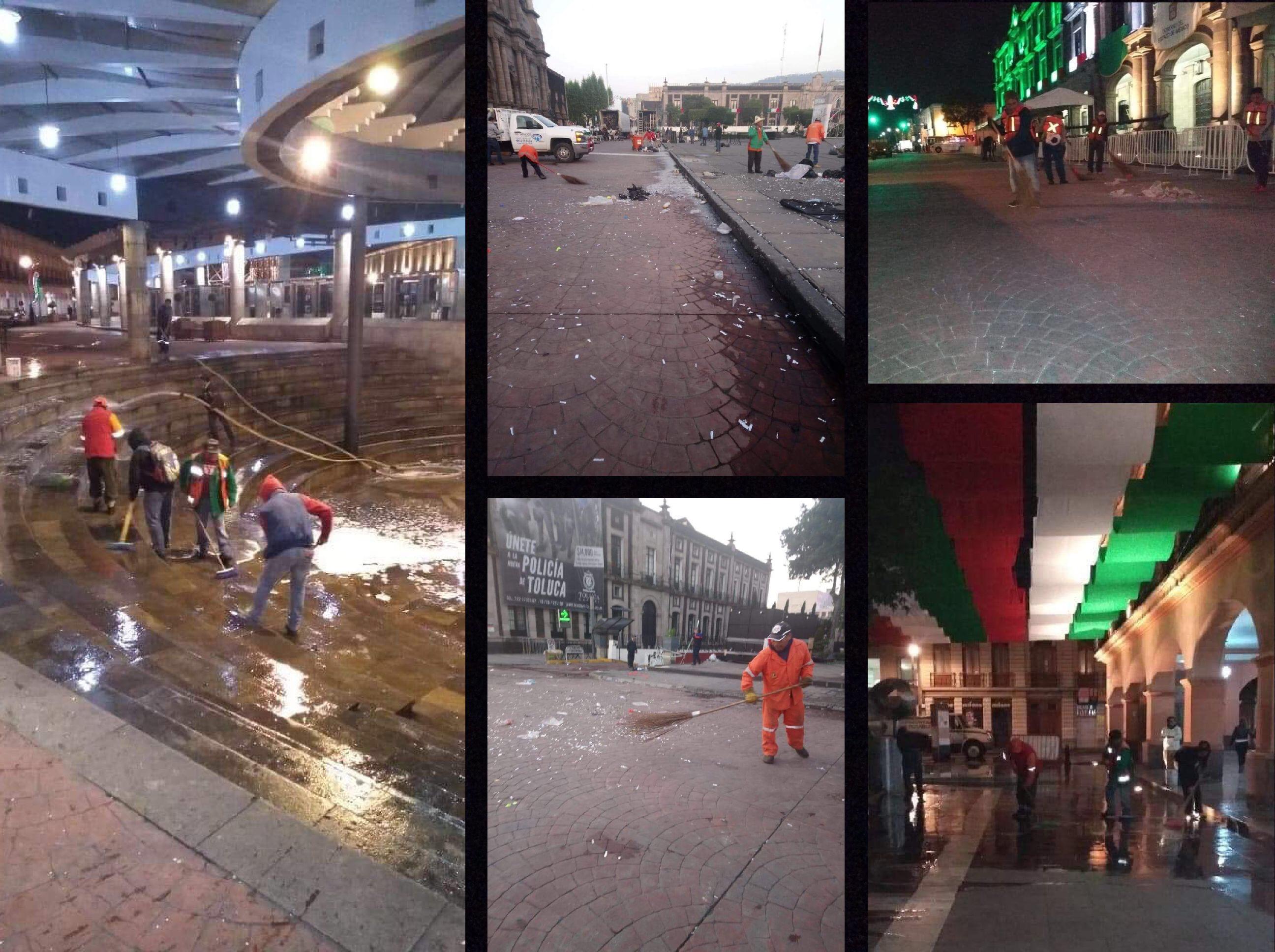 Levantan 120 toneladas de basura en Toluca tras fiestas patrias