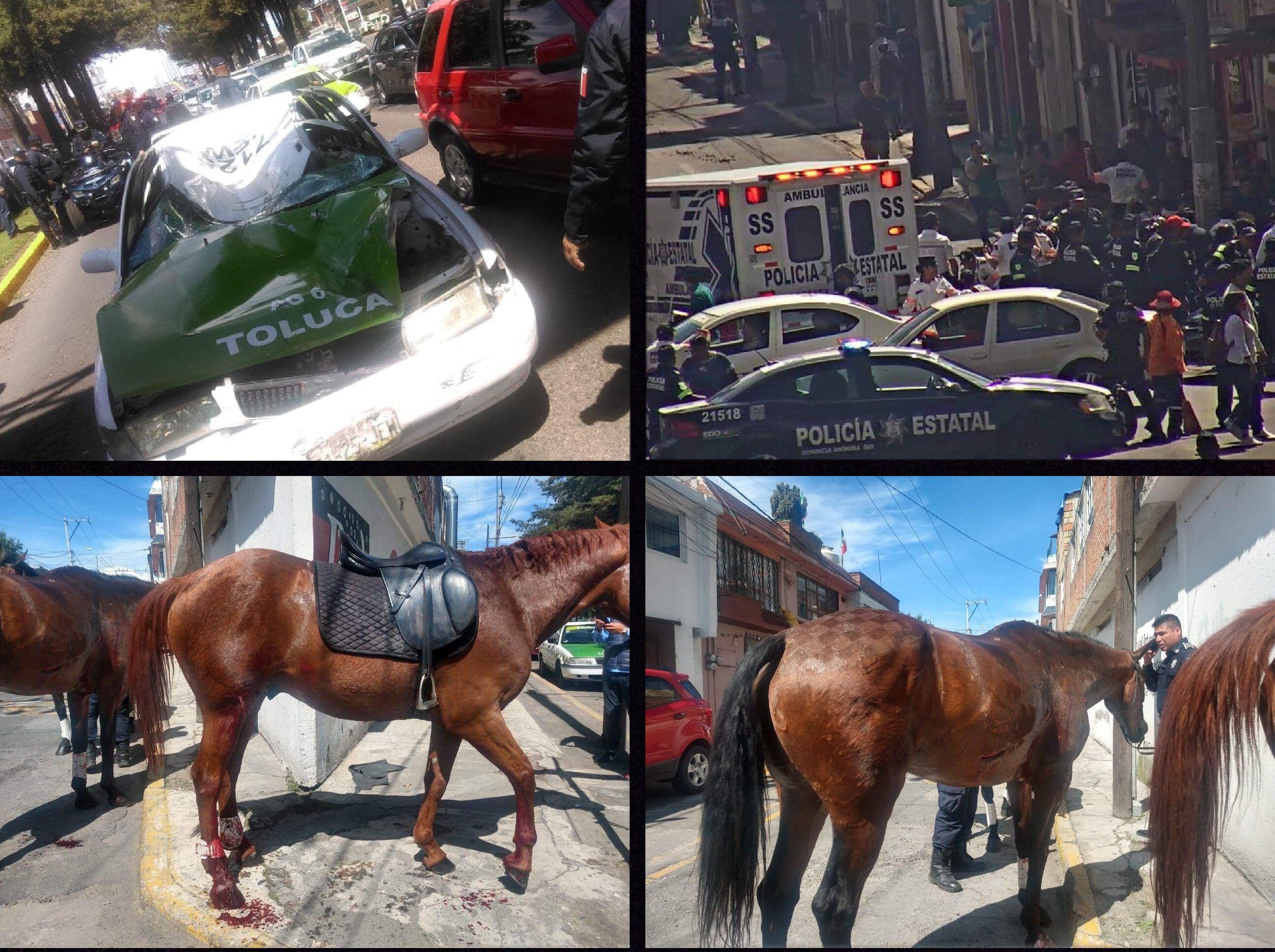 Pirotecnia provocó desboque de caballos en Toluca
