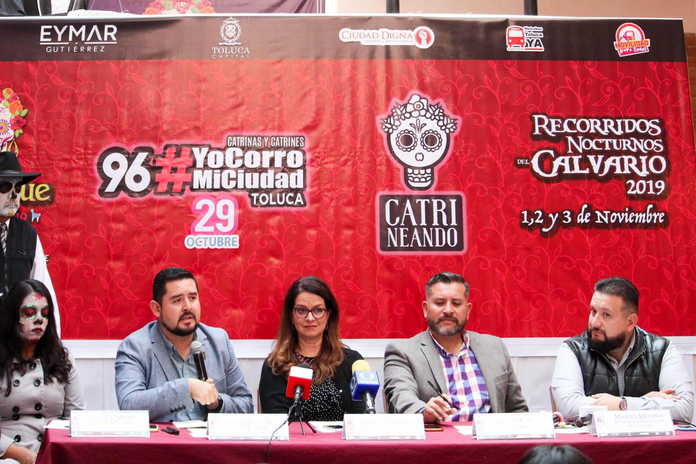 """Fusiona Toluca deporte y tradición en """"La Fiesta de los Muertos"""""""