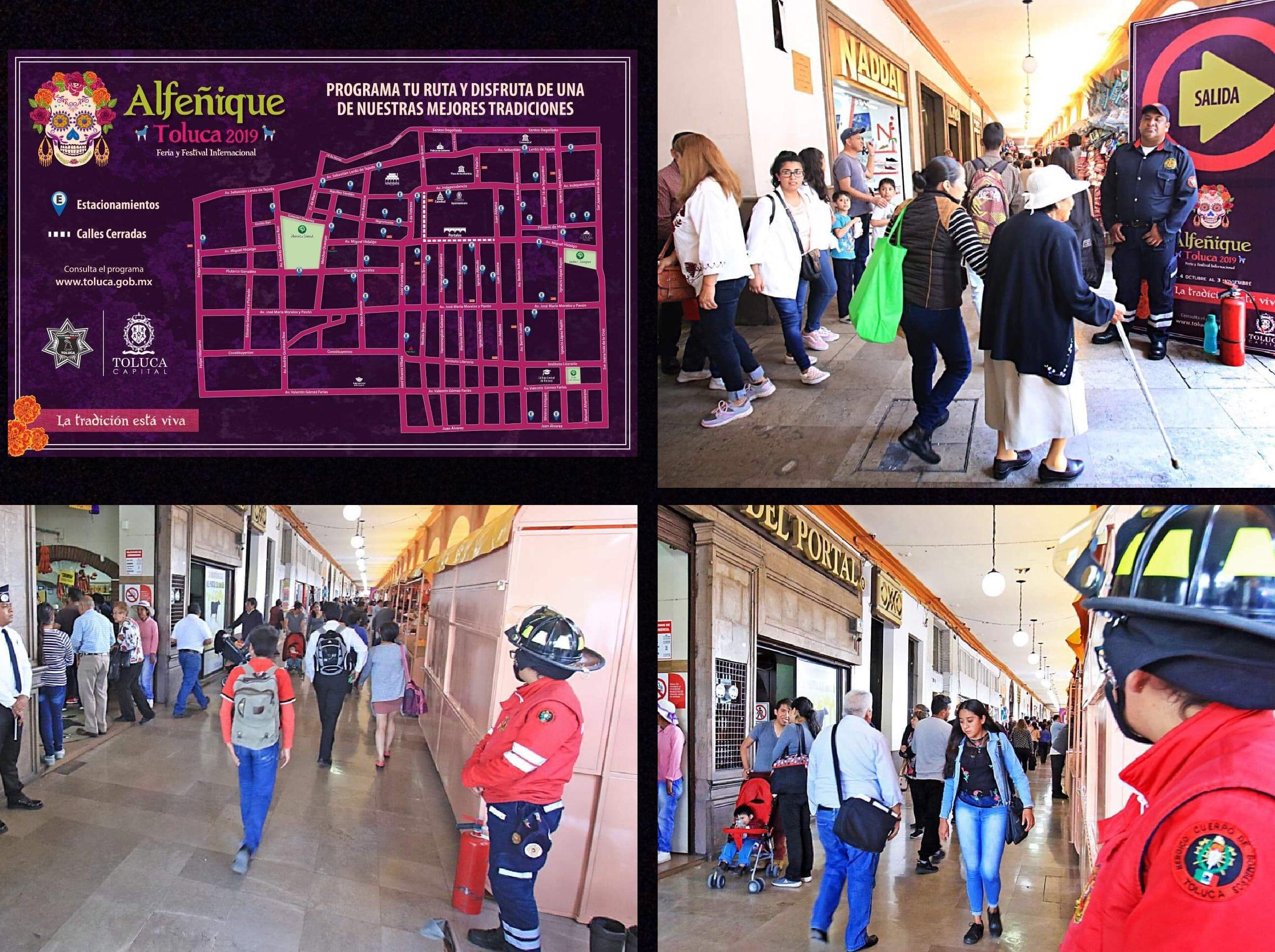 Feria del Alfeñique sin plástico y con señaletica en Toluca