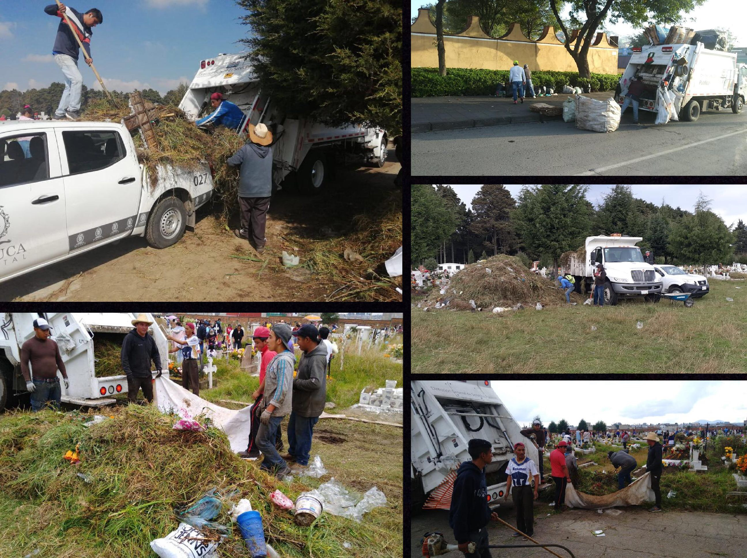 Dignifican panteones en Toluca