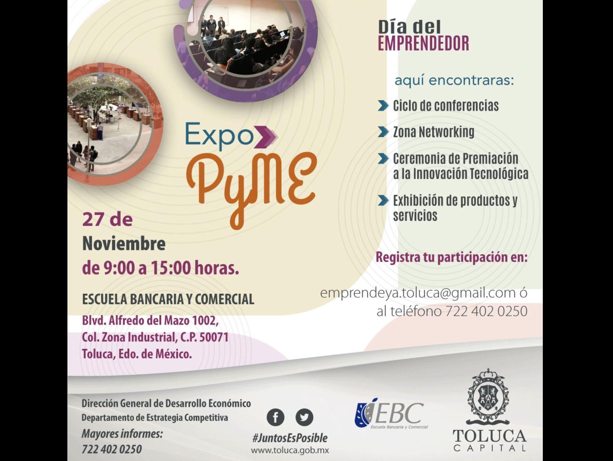 Convoca Toluca a emprendedores a Expo PyME