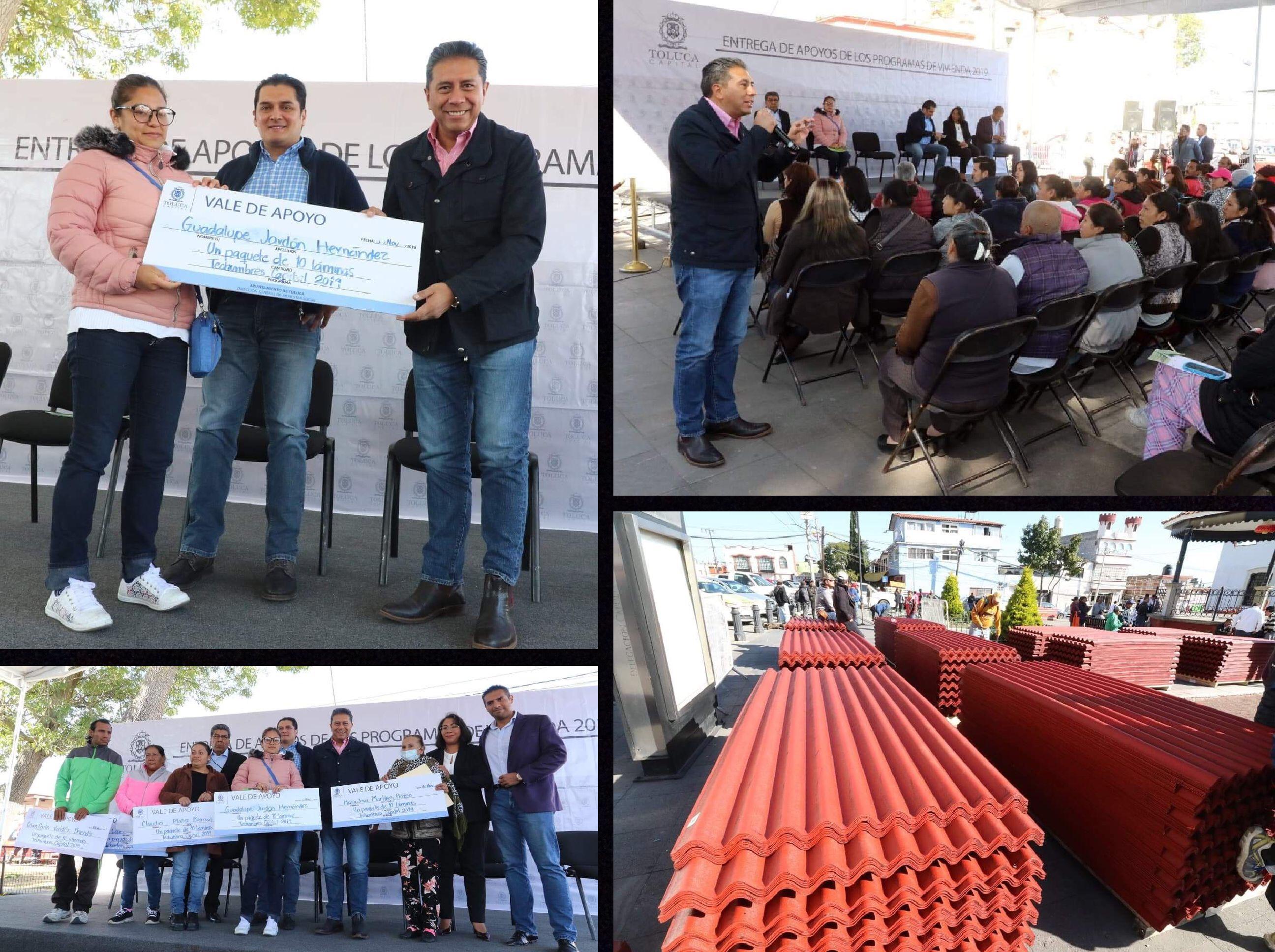 Lleva JuanRo reencarpetamiento y techumbres a Capultitlán
