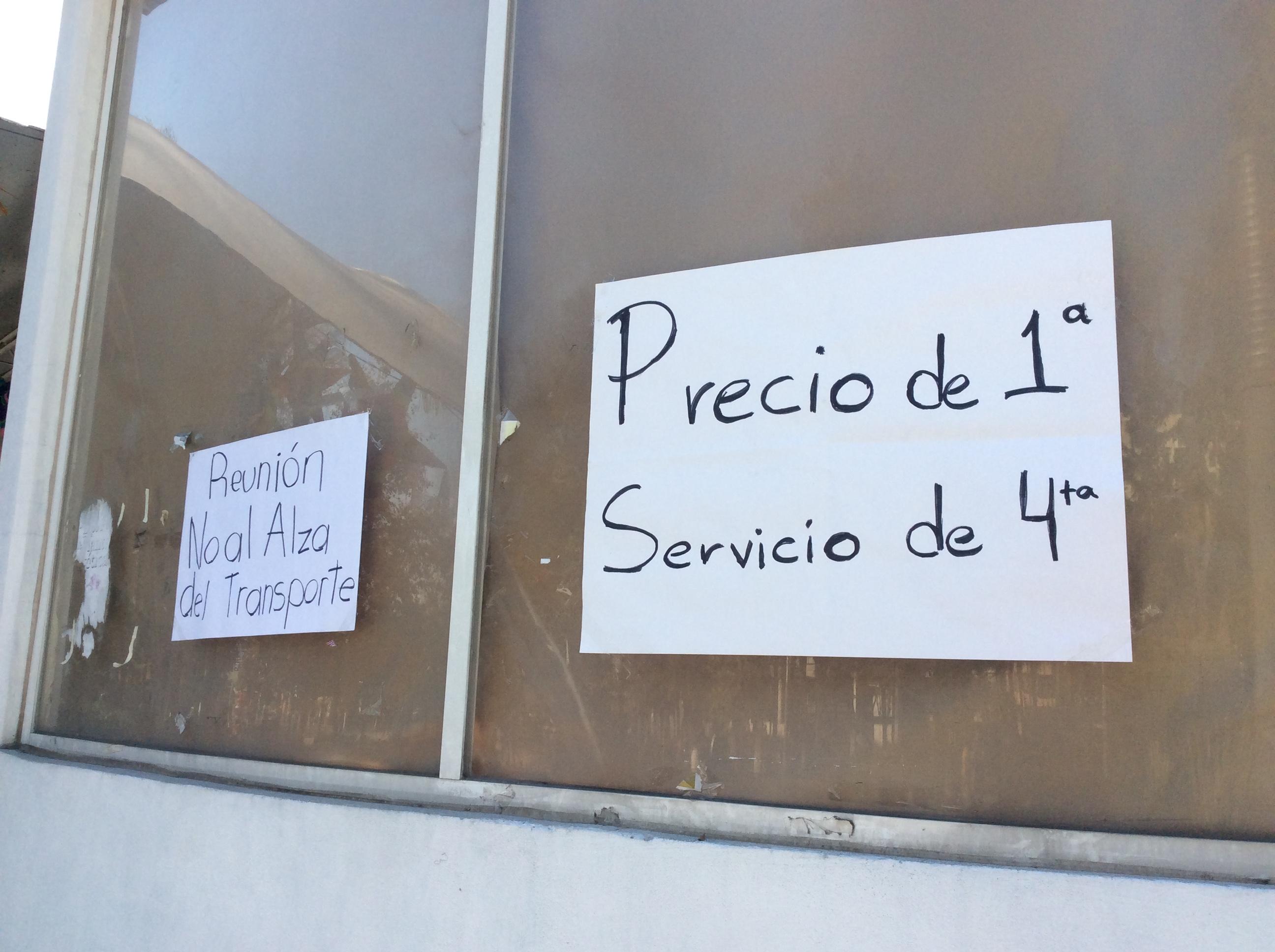 "Protestas debilitan el ""tarifazo"" en Edoméx"