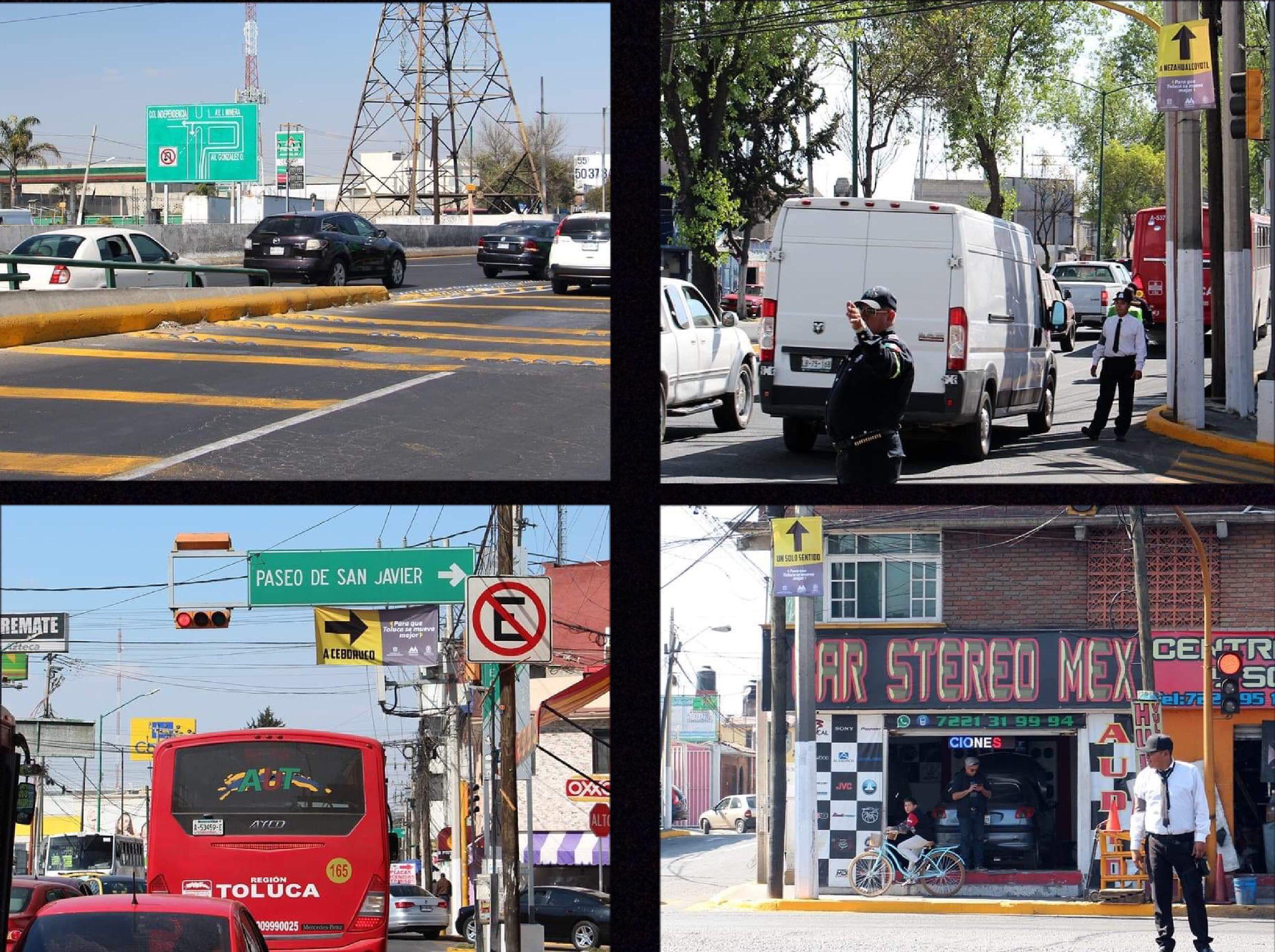 Inician cambios a circulación en vialidades de Toluca