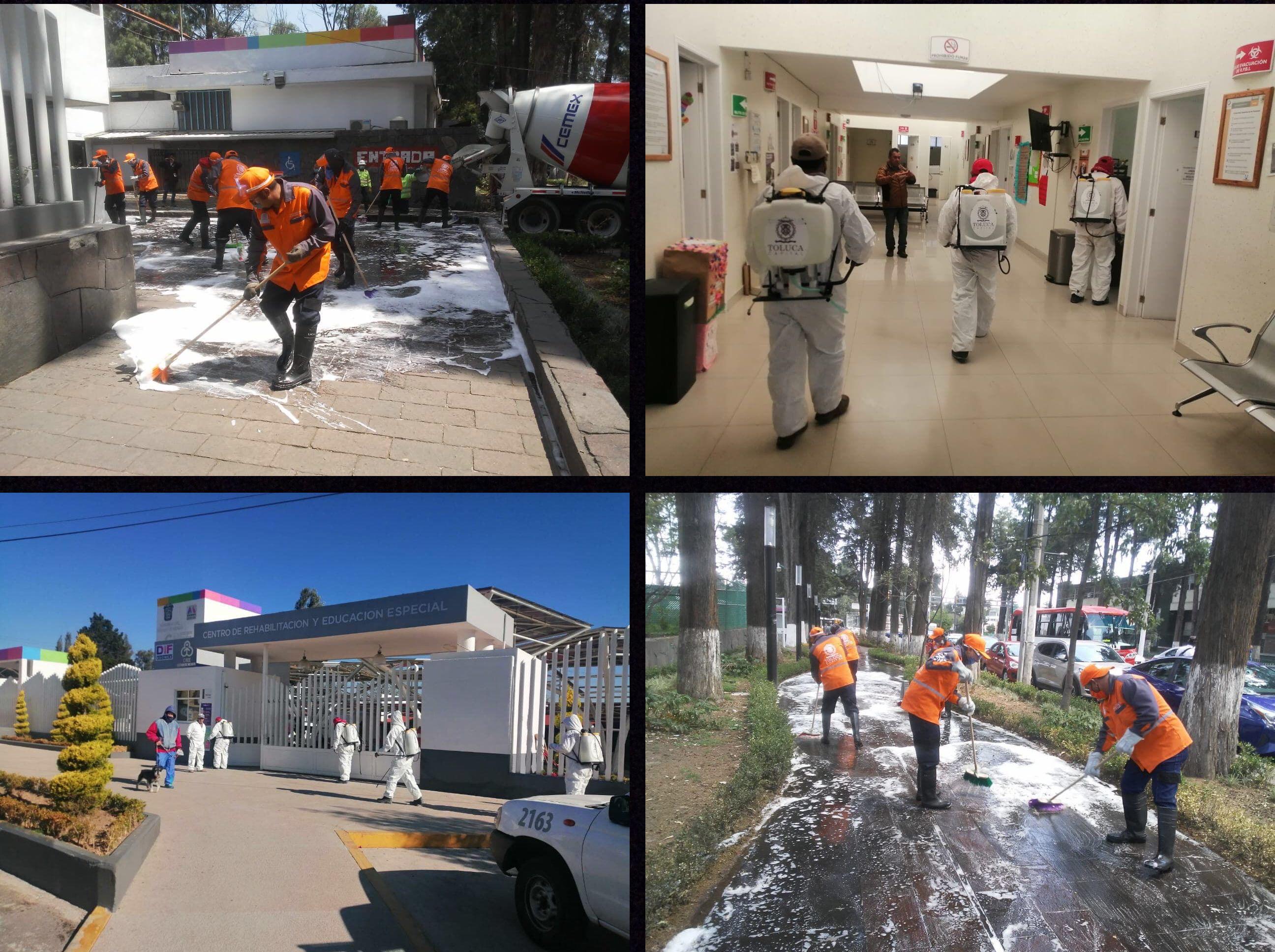 Lleva Toluca sanitización a hospitales y albergues