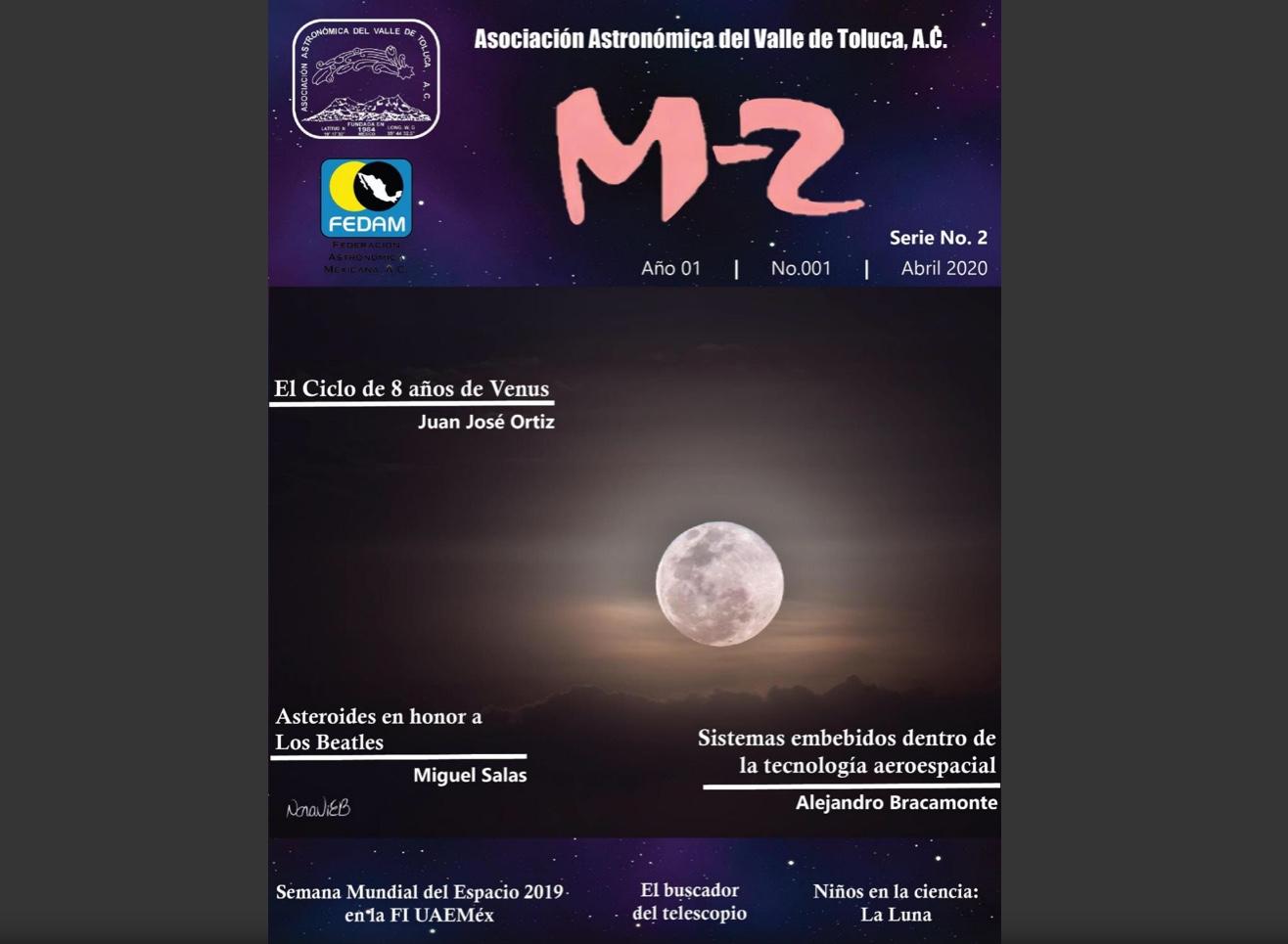 Asociación Astronómica del Valle de Toluca presenta revista M2 en UAEM