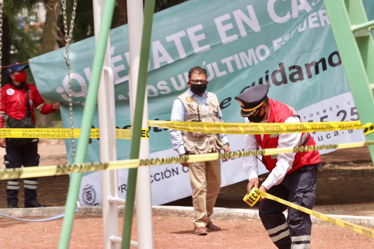 """Refuerzan """"Quédate en Casa"""" en Toluca"""