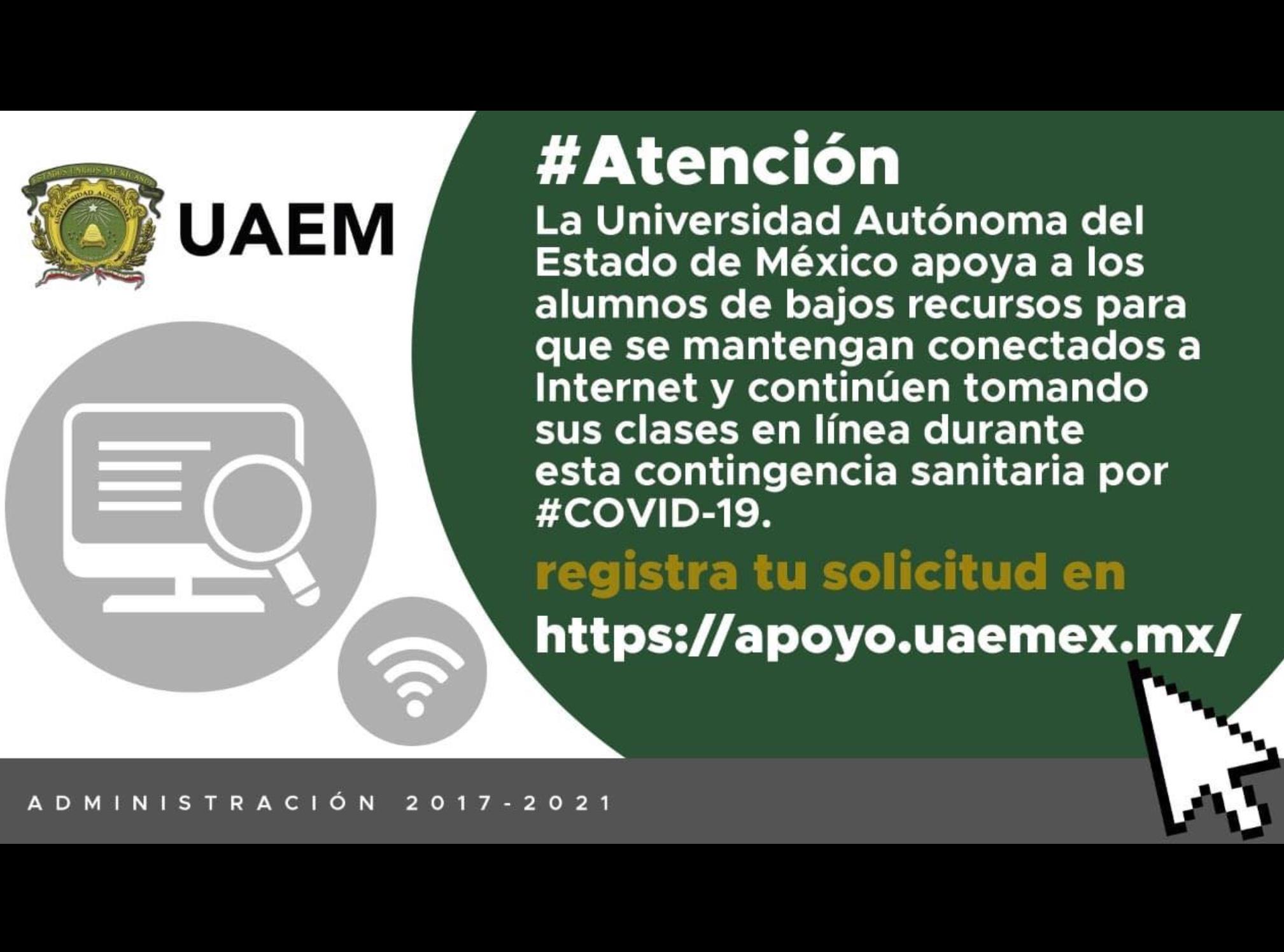 Oferta UAEM beca estudiantil para pagar internet