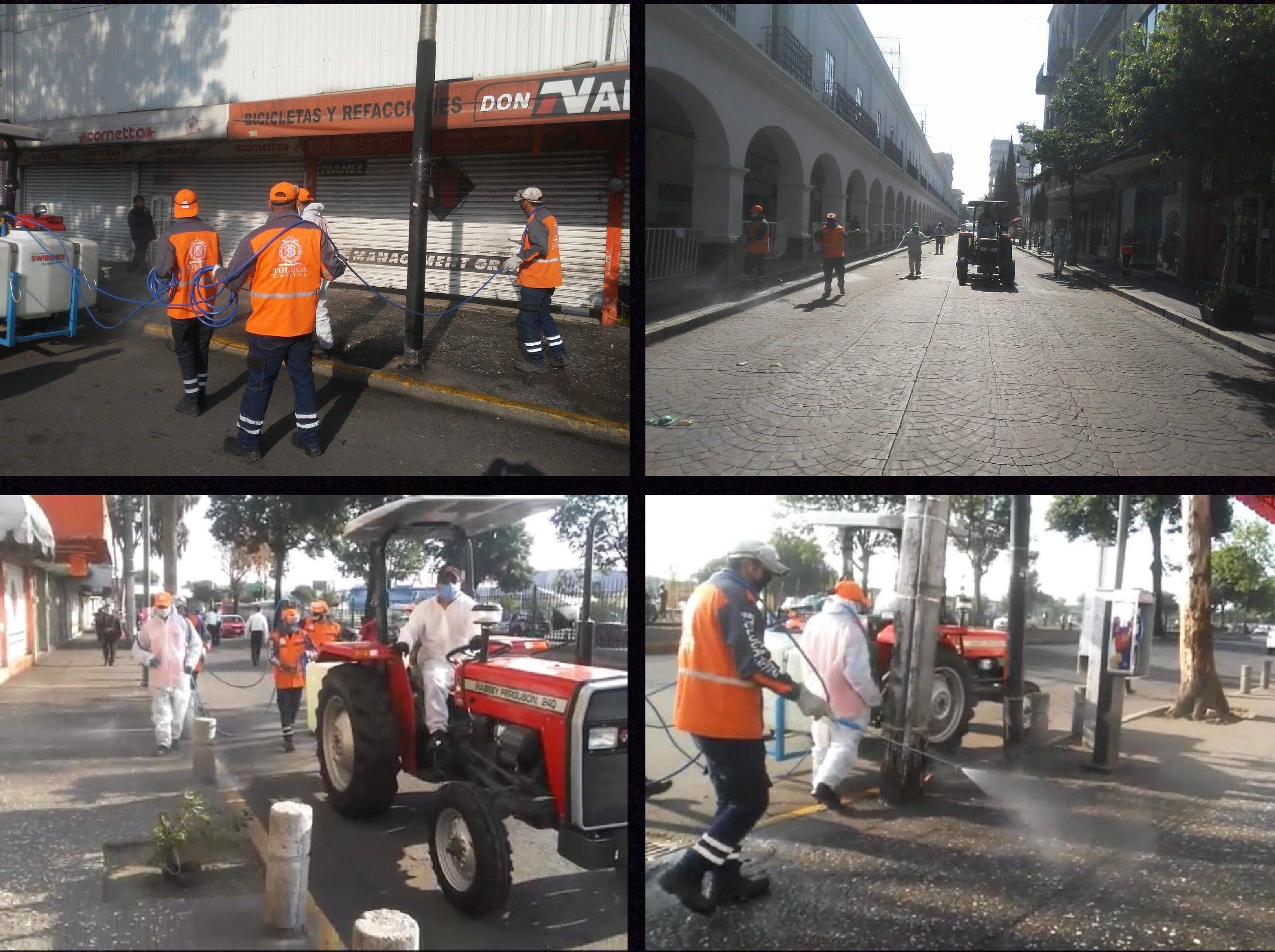 Mantiene Toluca sanitización de espacios públicos