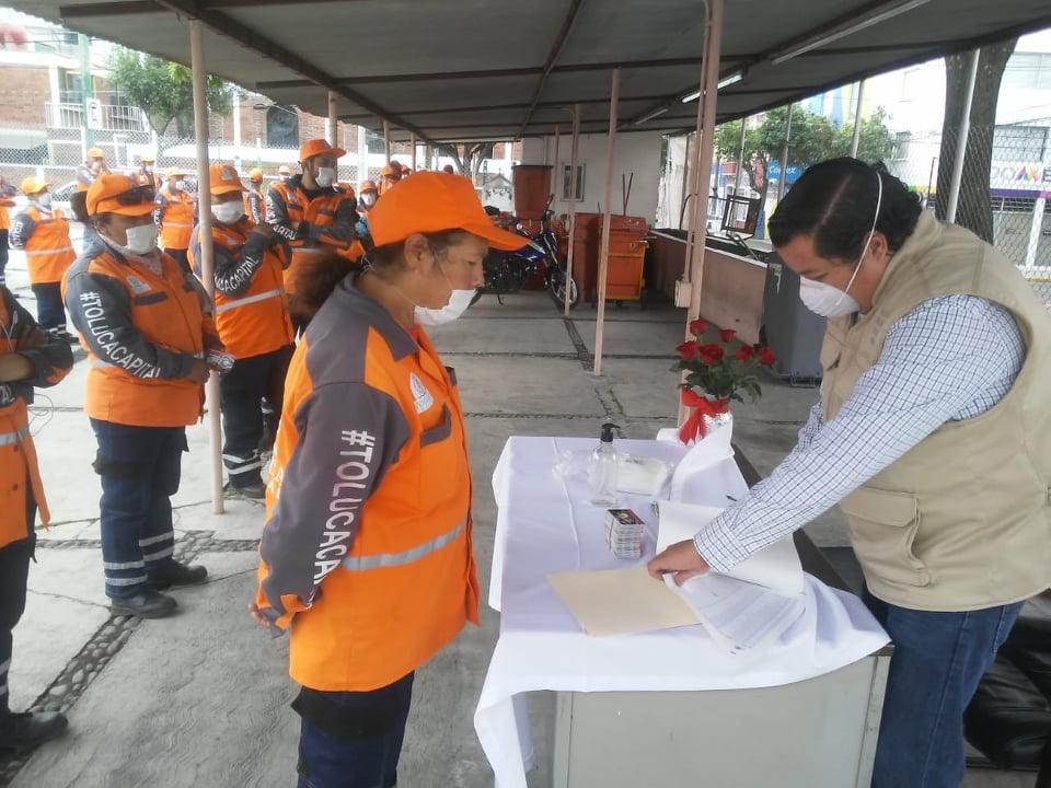 Reconocen trabajo del Departamento de Limpia en Toluca