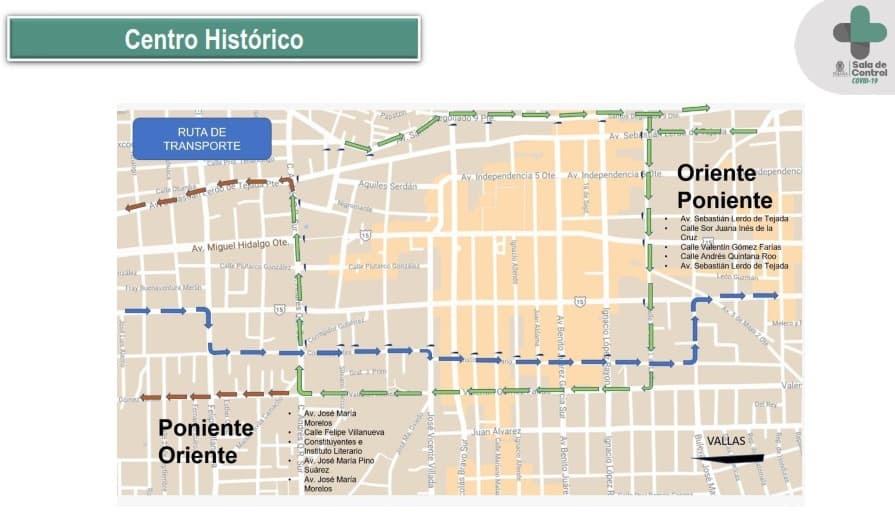Por semáforo rojo, movilidad restringida en primer cuadro de Toluca
