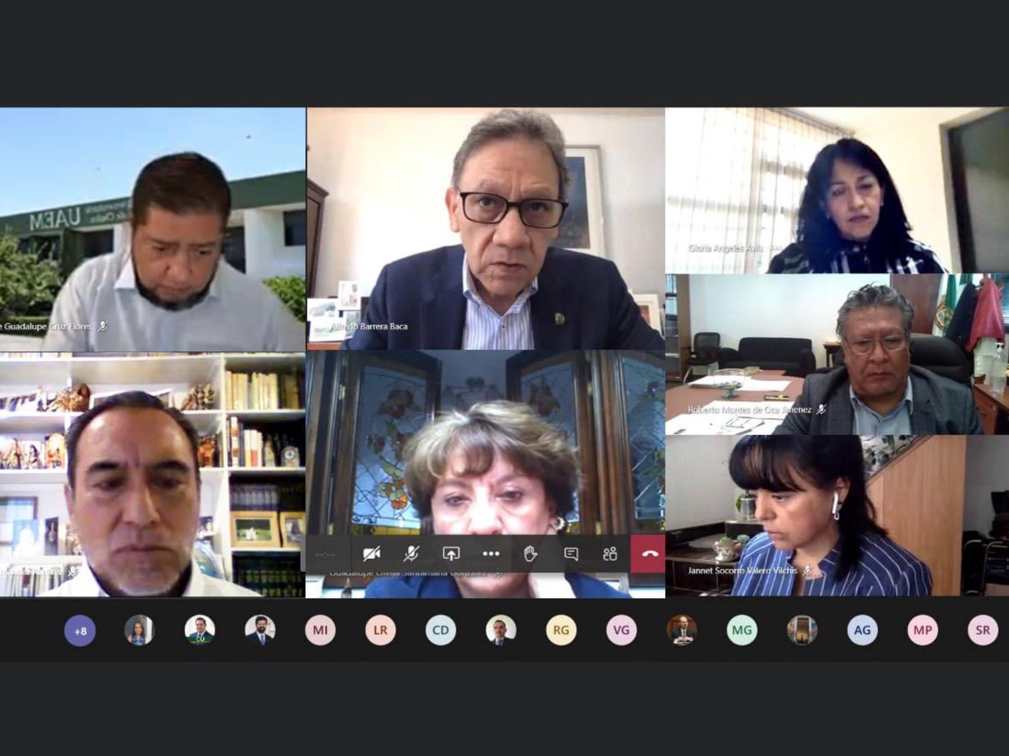 Instala rector de UAEM comisión para regreso a actividades presenciales