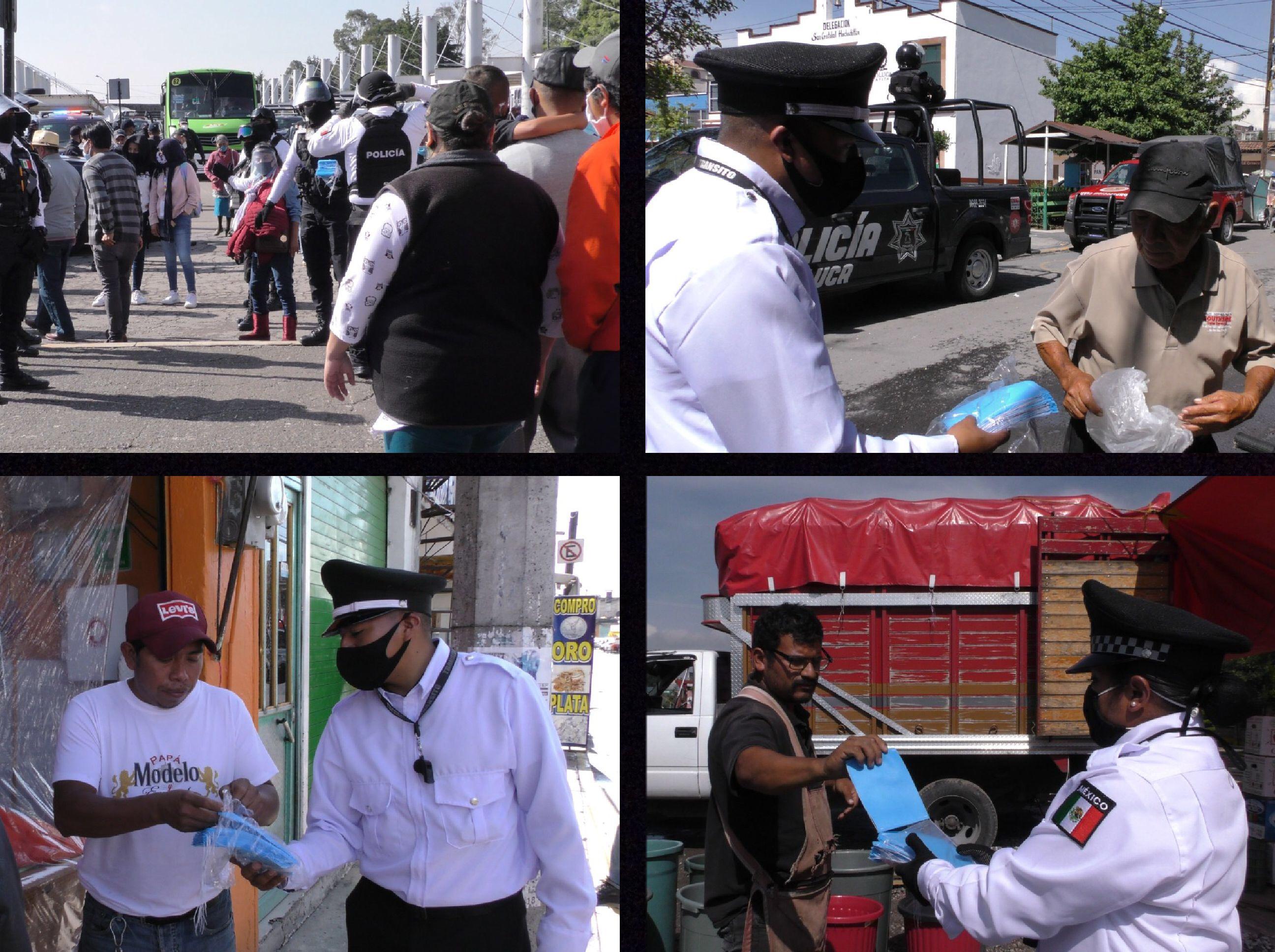 Inicia repartición de cubrebocas en Toluca