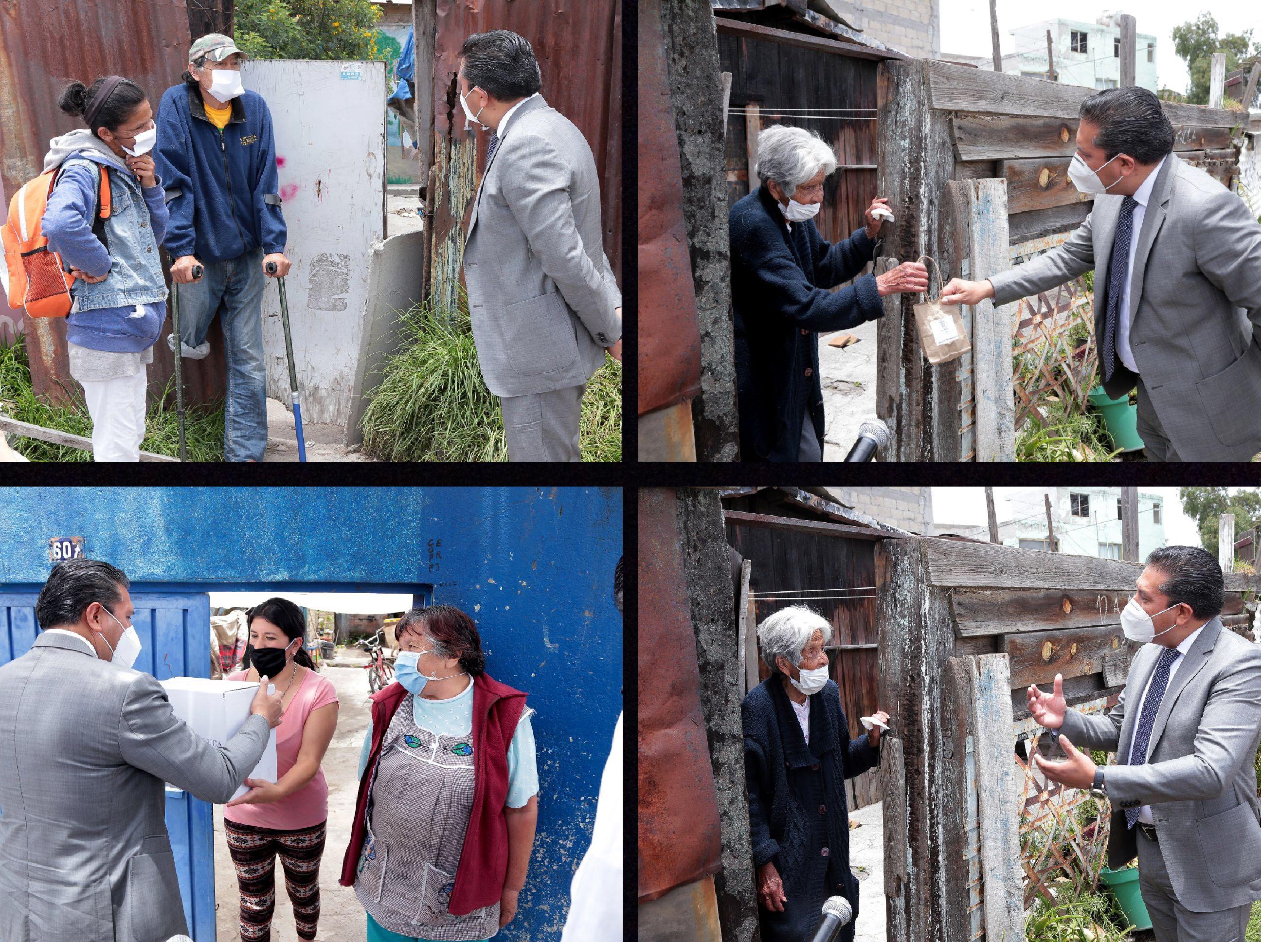 Alivianan contingencia a sectores vulnerables de Toluca