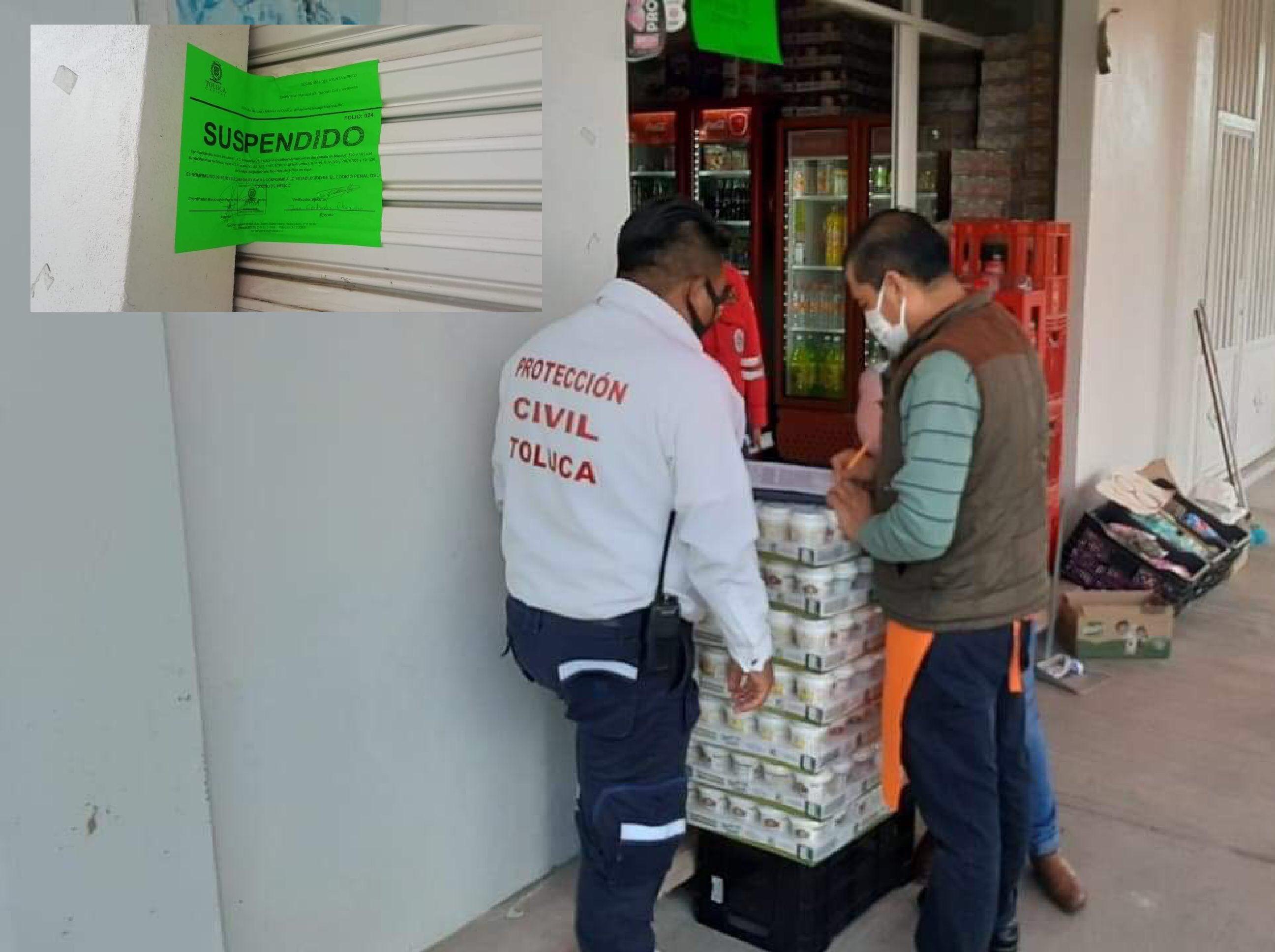 Cierran expendios clandestinos de cerveza en Toluca