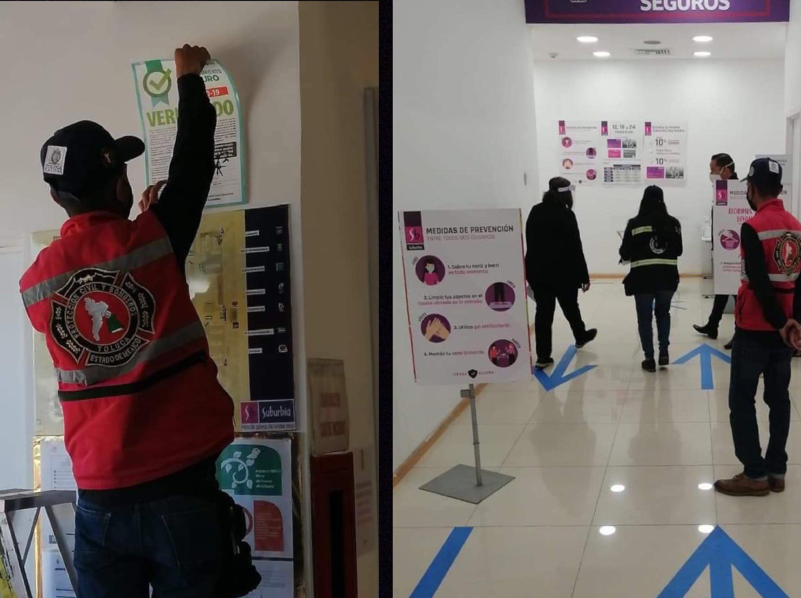 Avala ayuntamiento a negocios seguros en Toluca