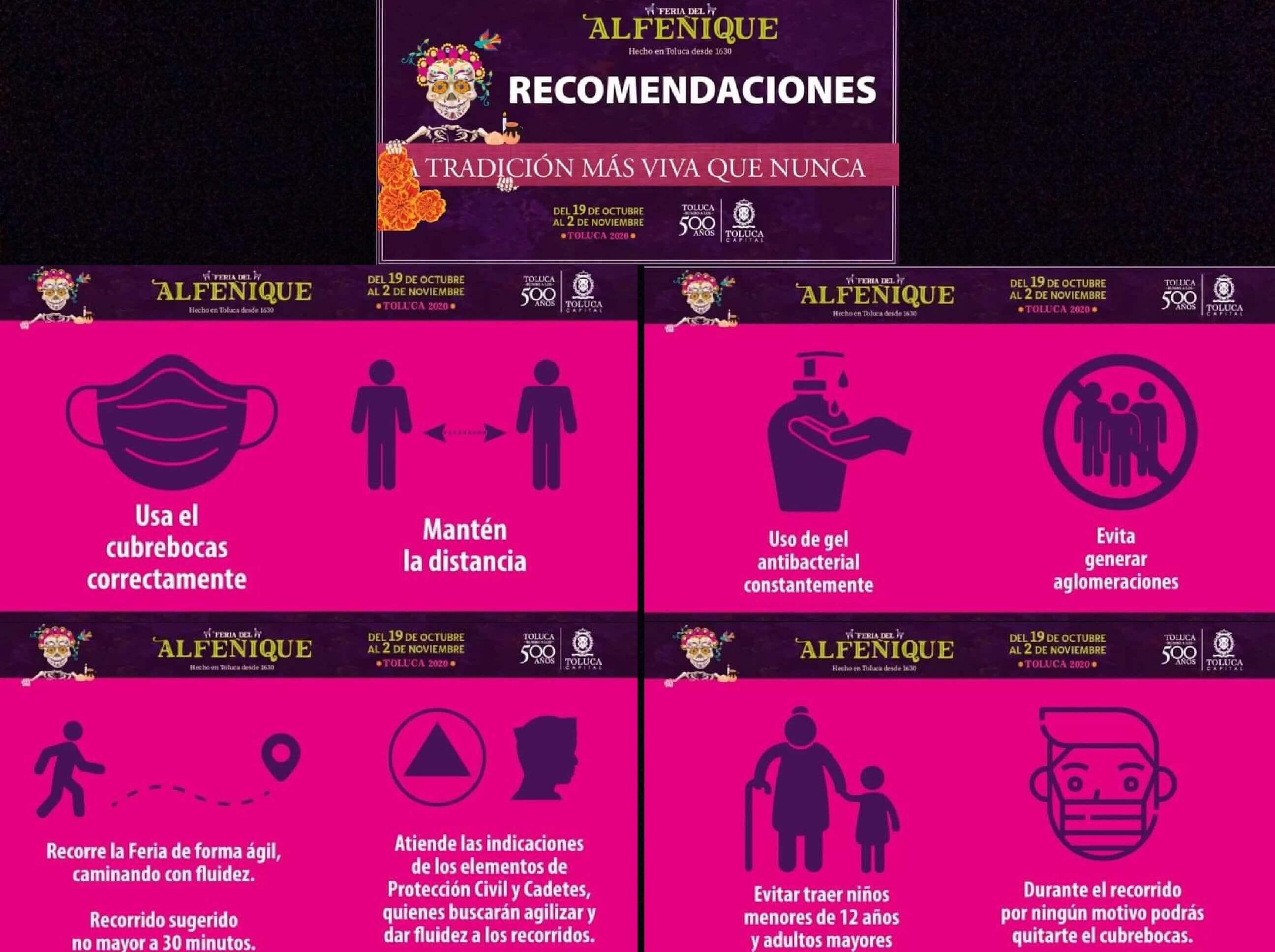 Apuesta Toluca por visitas seguras a Feria del Alfeñique