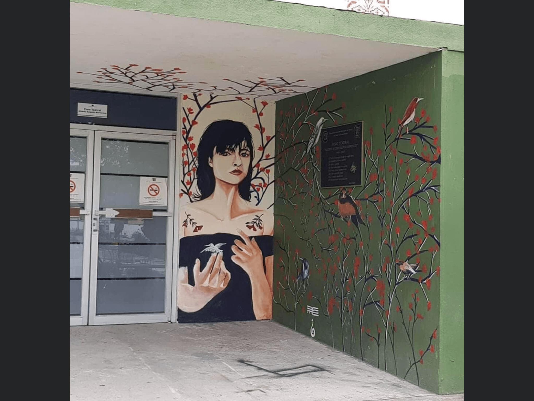 A encuesta, murales en Humanidades de UAEM