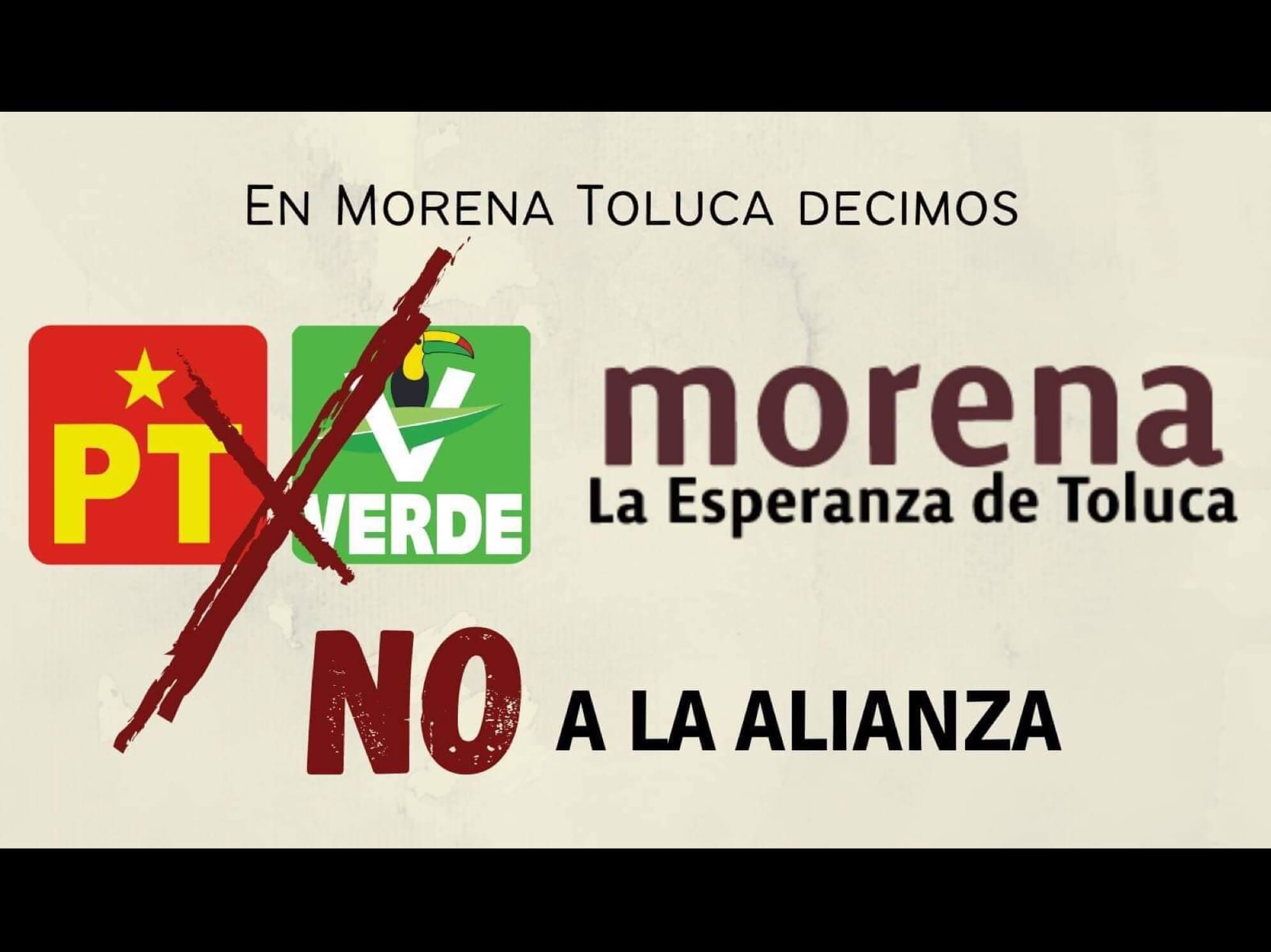 """Desdeñan alianza por Toluca, no abona a la """"4 T"""", sostienen"""