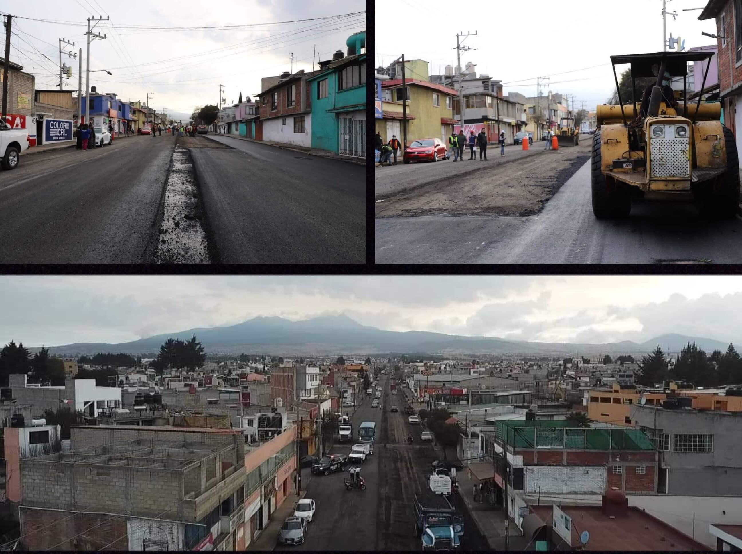 Repavimentan avenida Alpinismo en Toluca